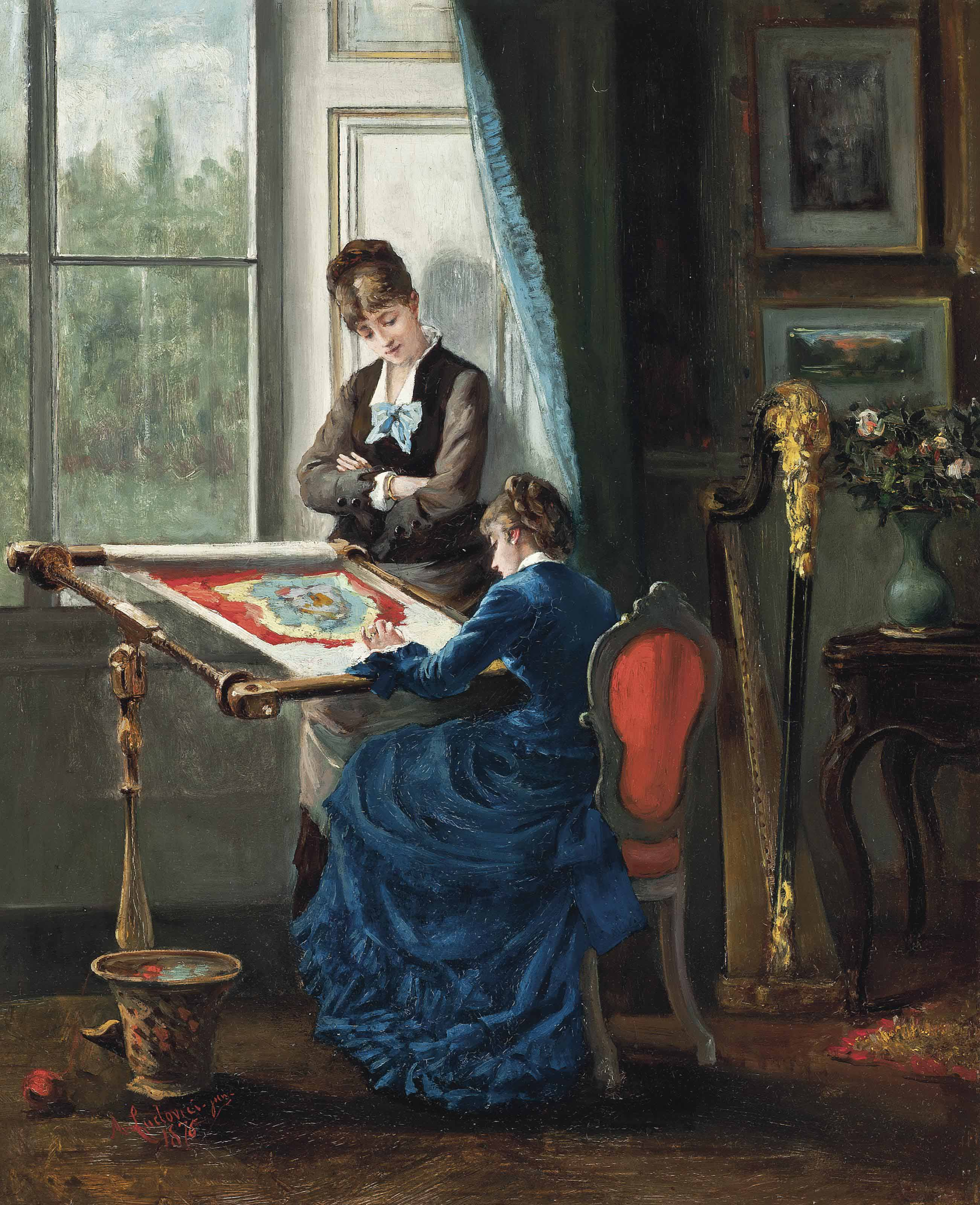 The embroidery lesson
