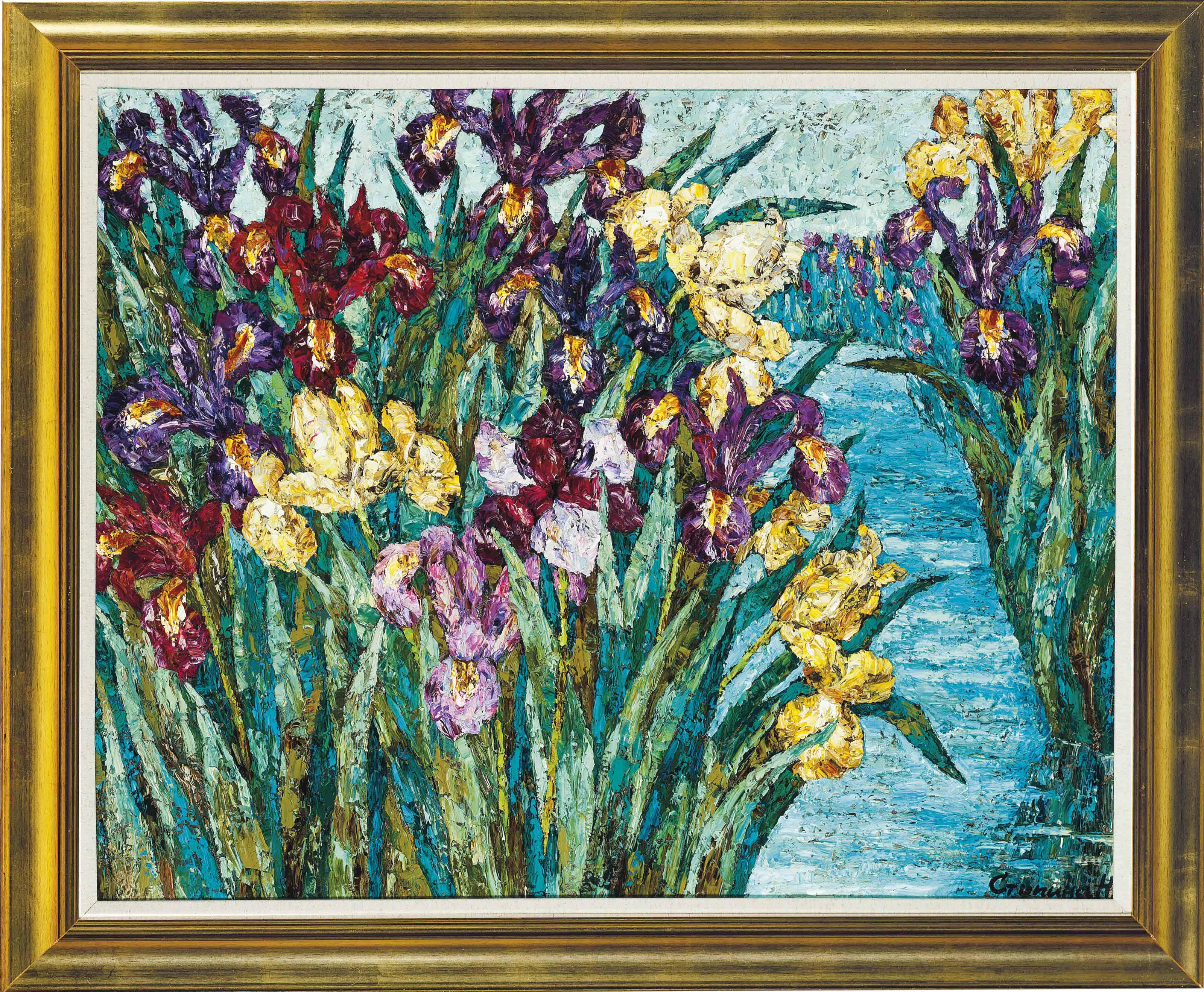 Iris by water
