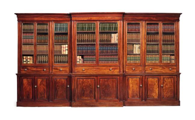 A WILLIAM IV MAHOGANY LIBRARY