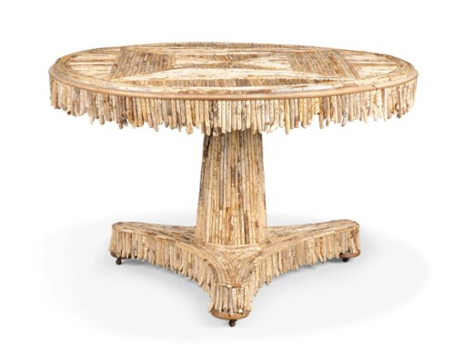 A DRIFTWOOD CENTRE TABLE