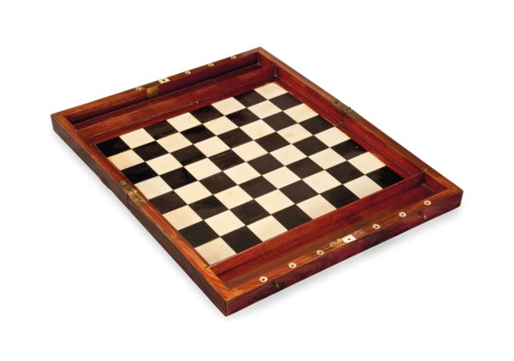 AN ENGLISH IVORY AND ROSEWOOD