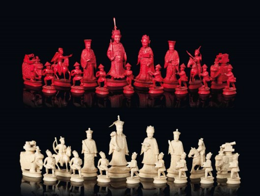 A CHINESE-EXPORT IVORY CHESS S