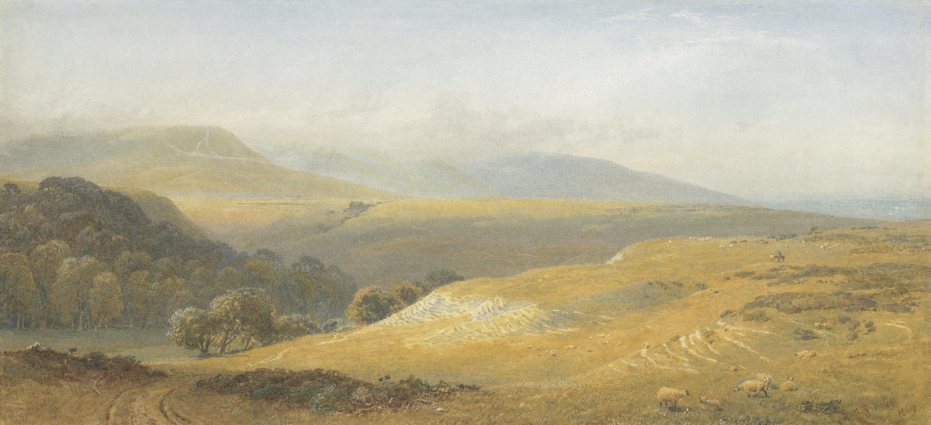 View of the South Downs, near Eastbourne, Sussex