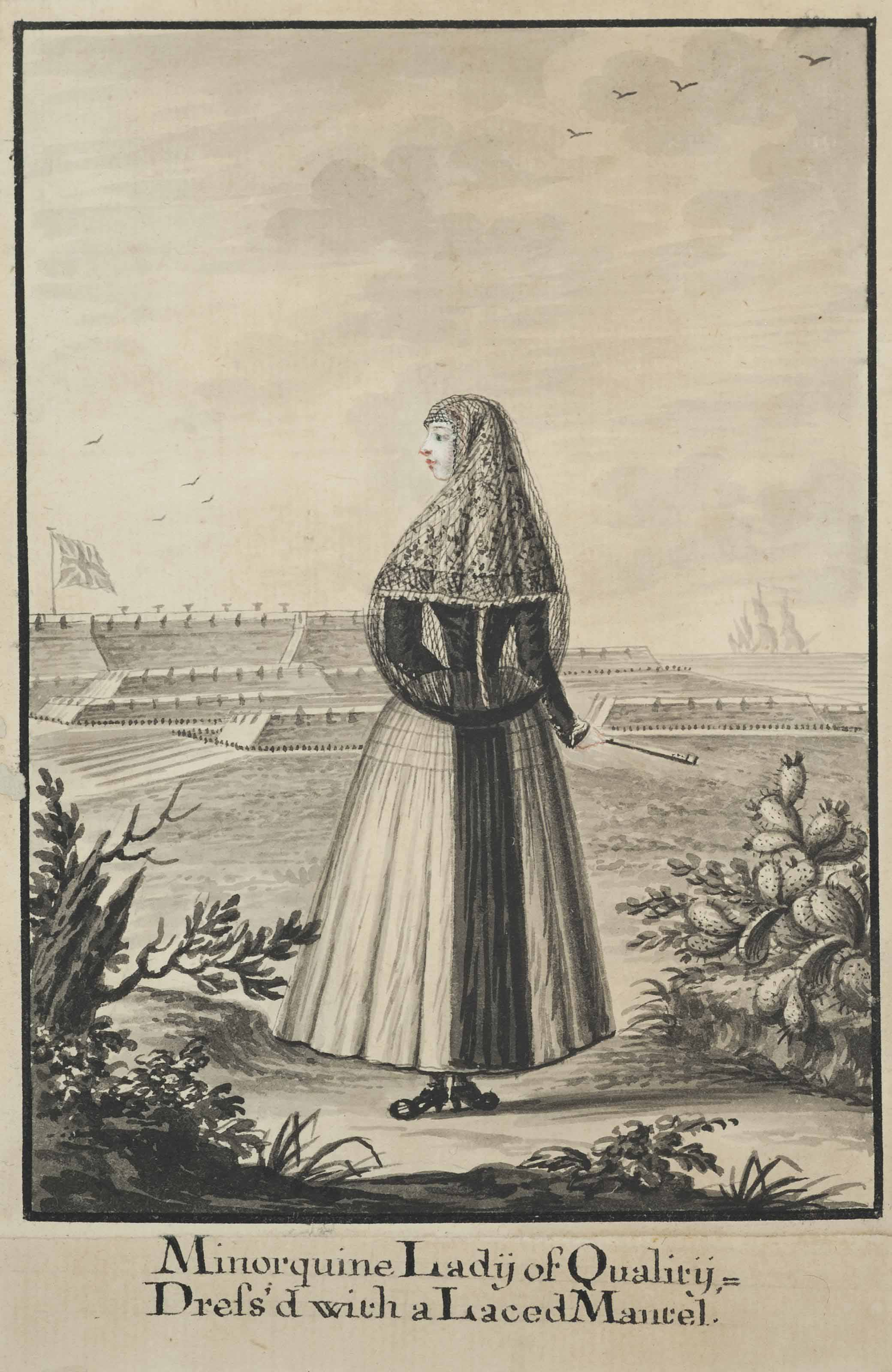 Two studies of women of Minorca
