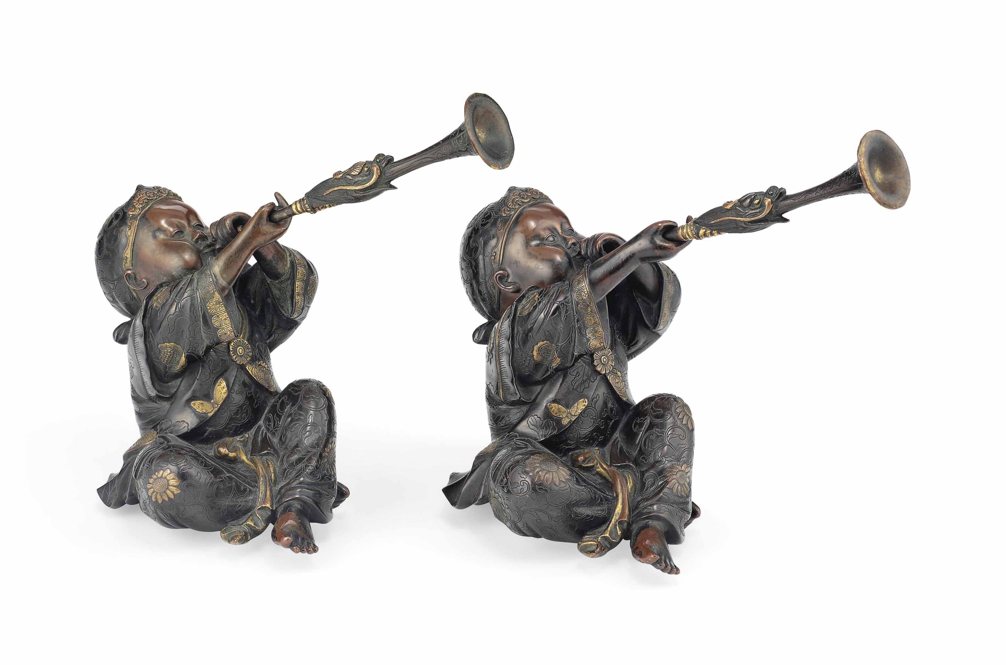 A Pair of Bronze Figures