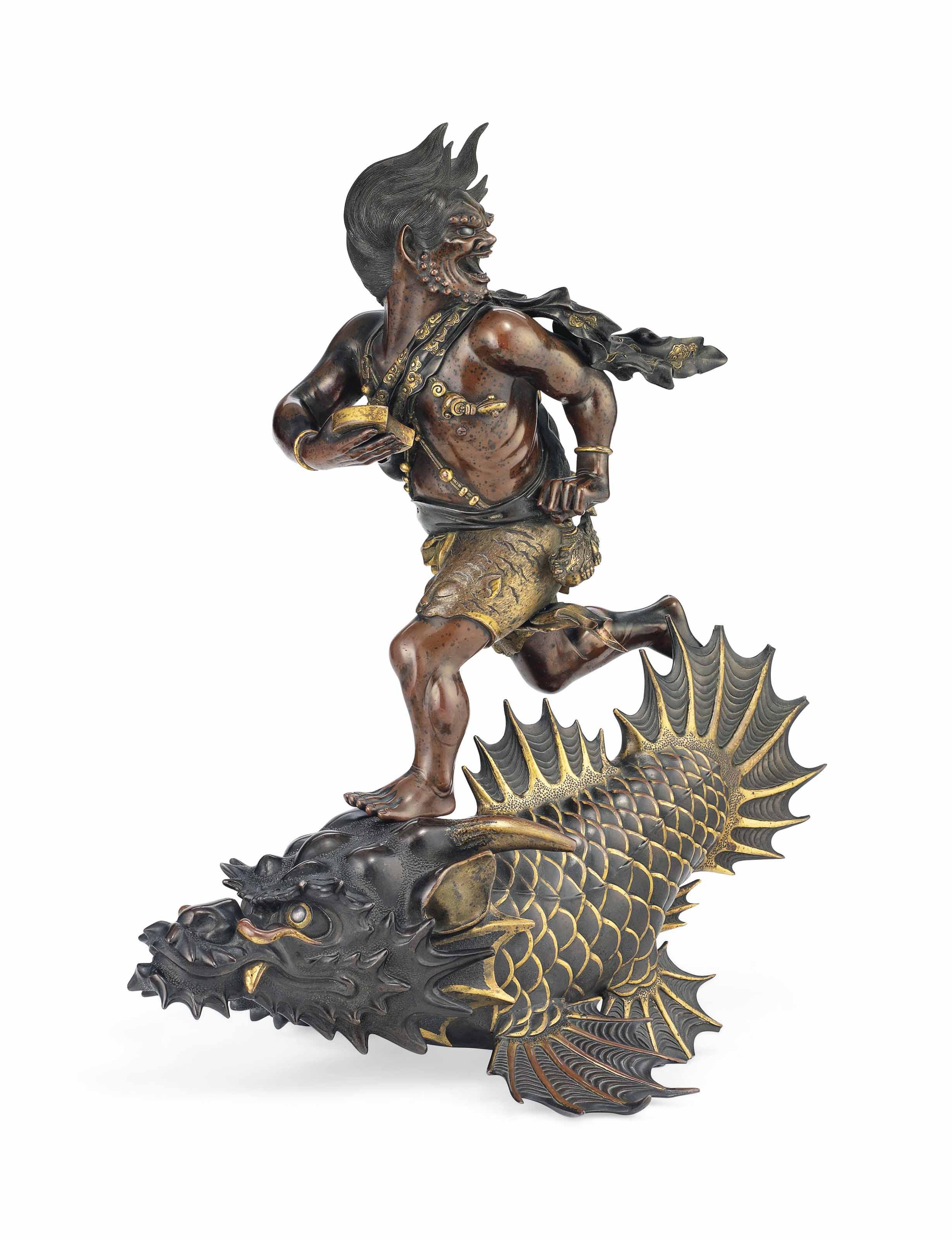 A Bronze Okimono [Sculptural Ornament]