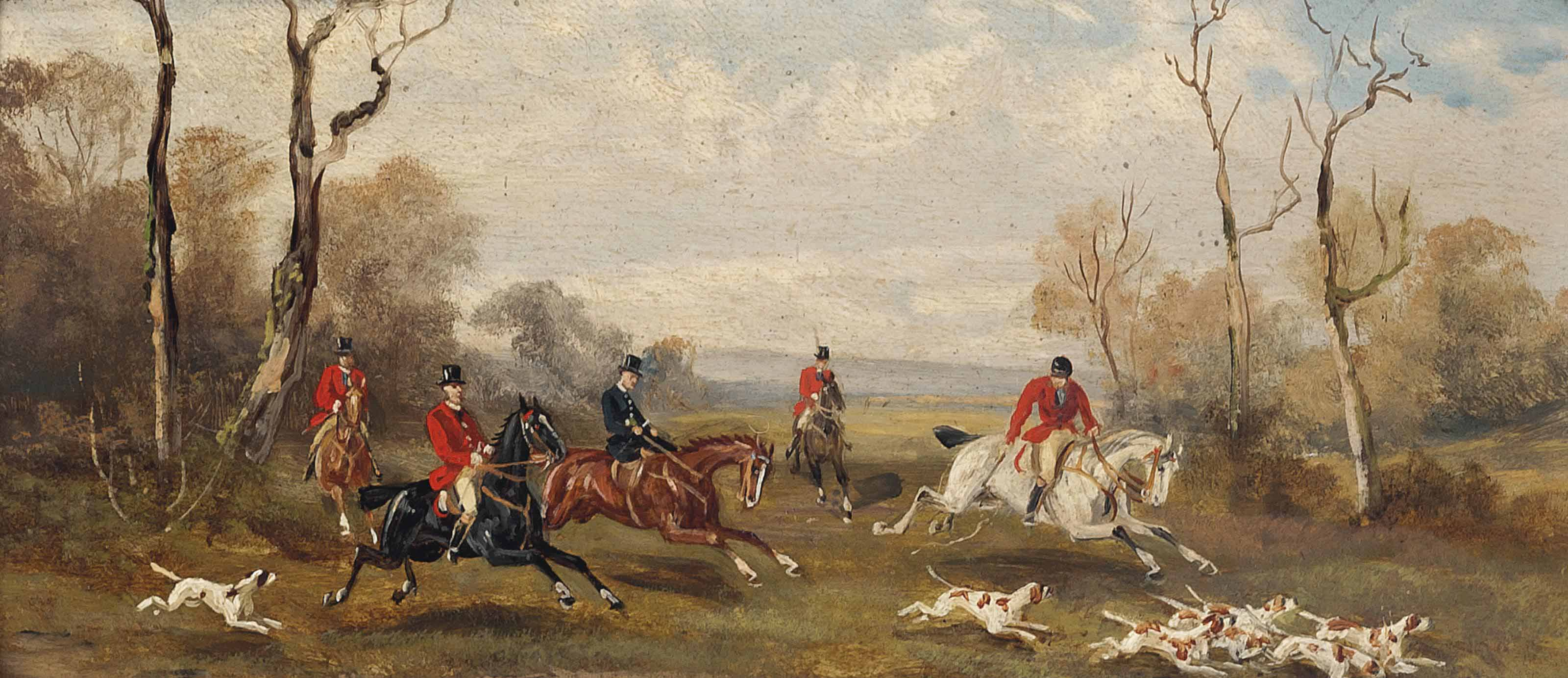 On the scent; and A successful hunt