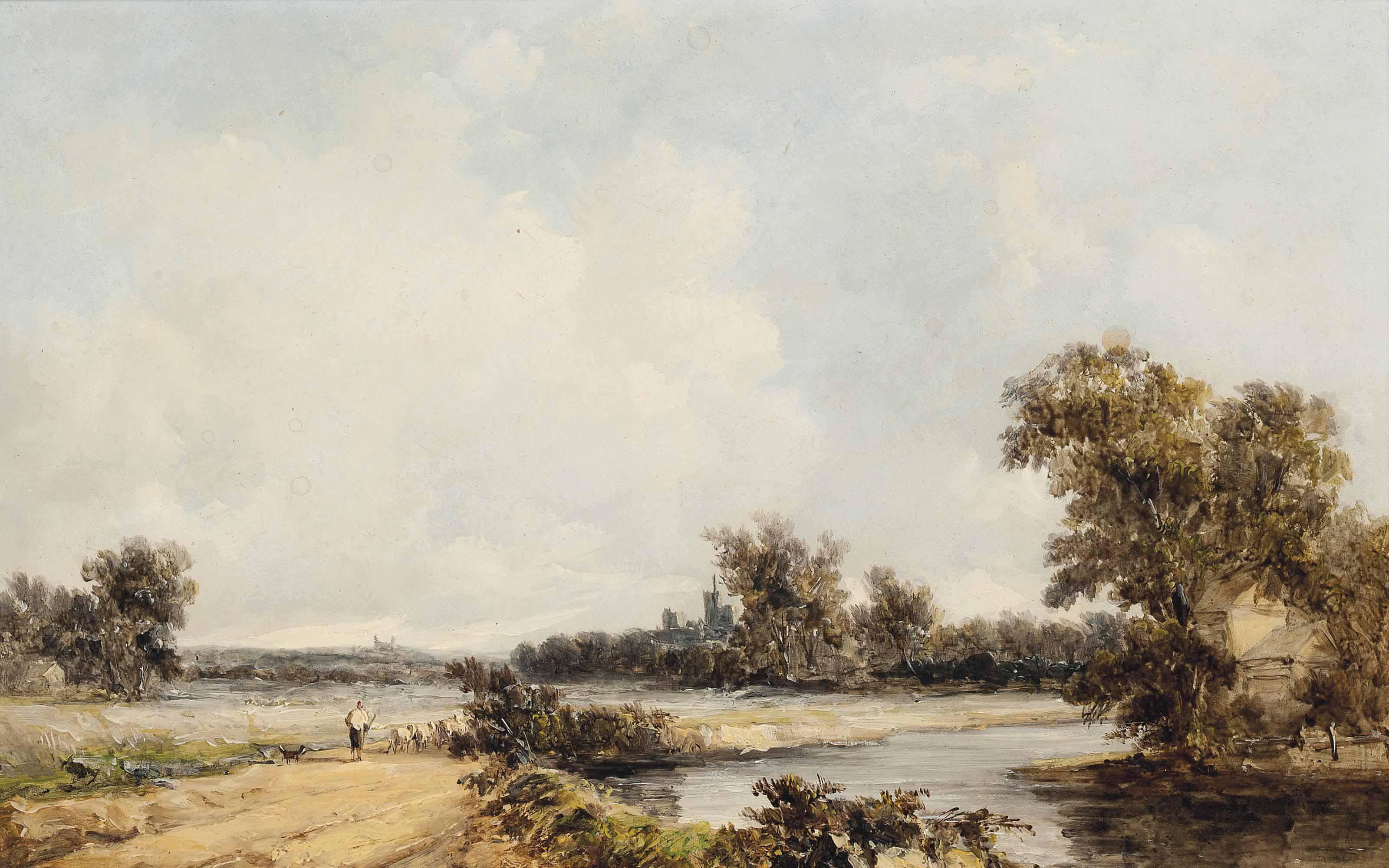 The banks of the Thames, near Eton