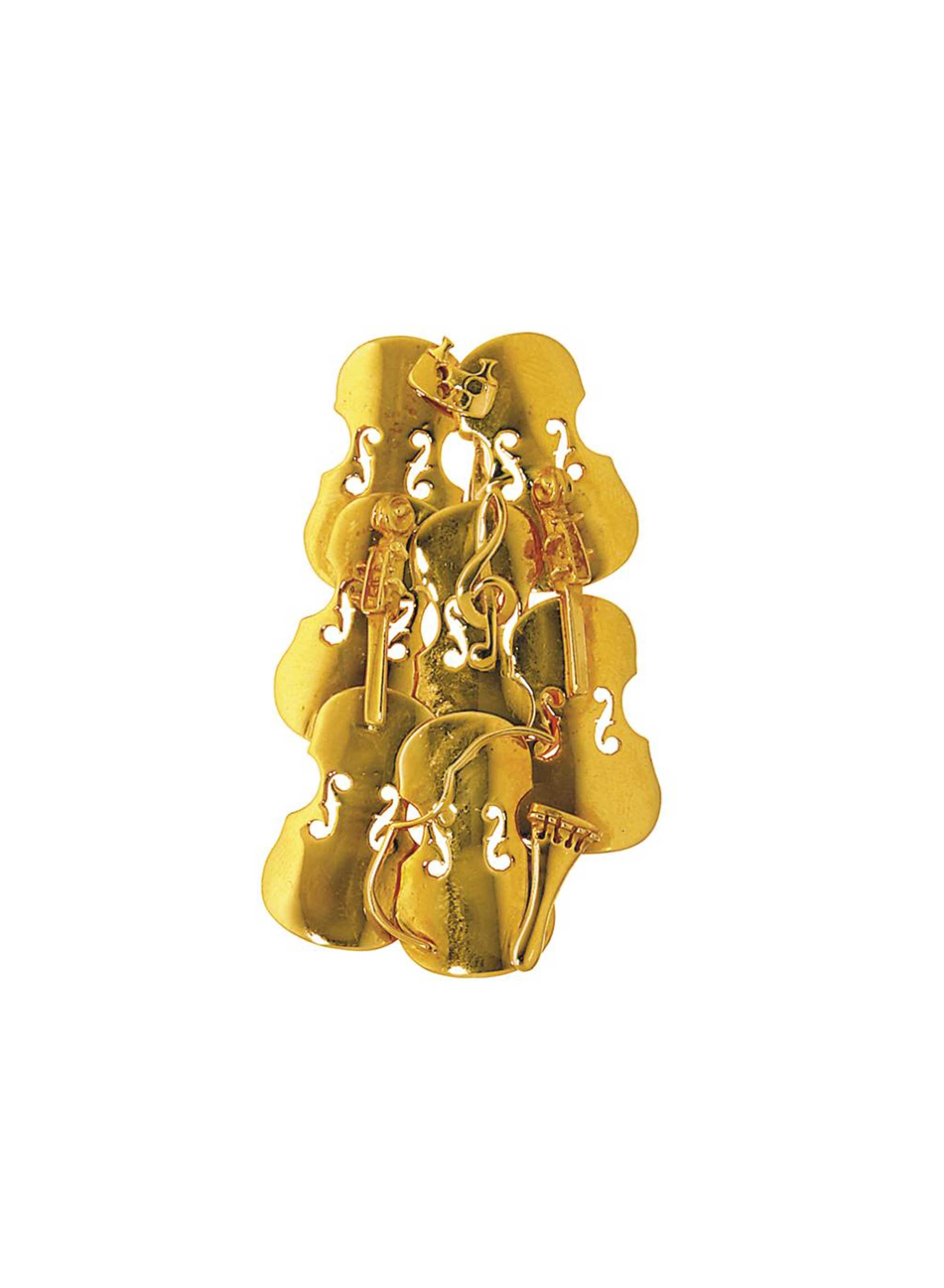 A 'Colère de Violon' brooch/pendant, by Arman