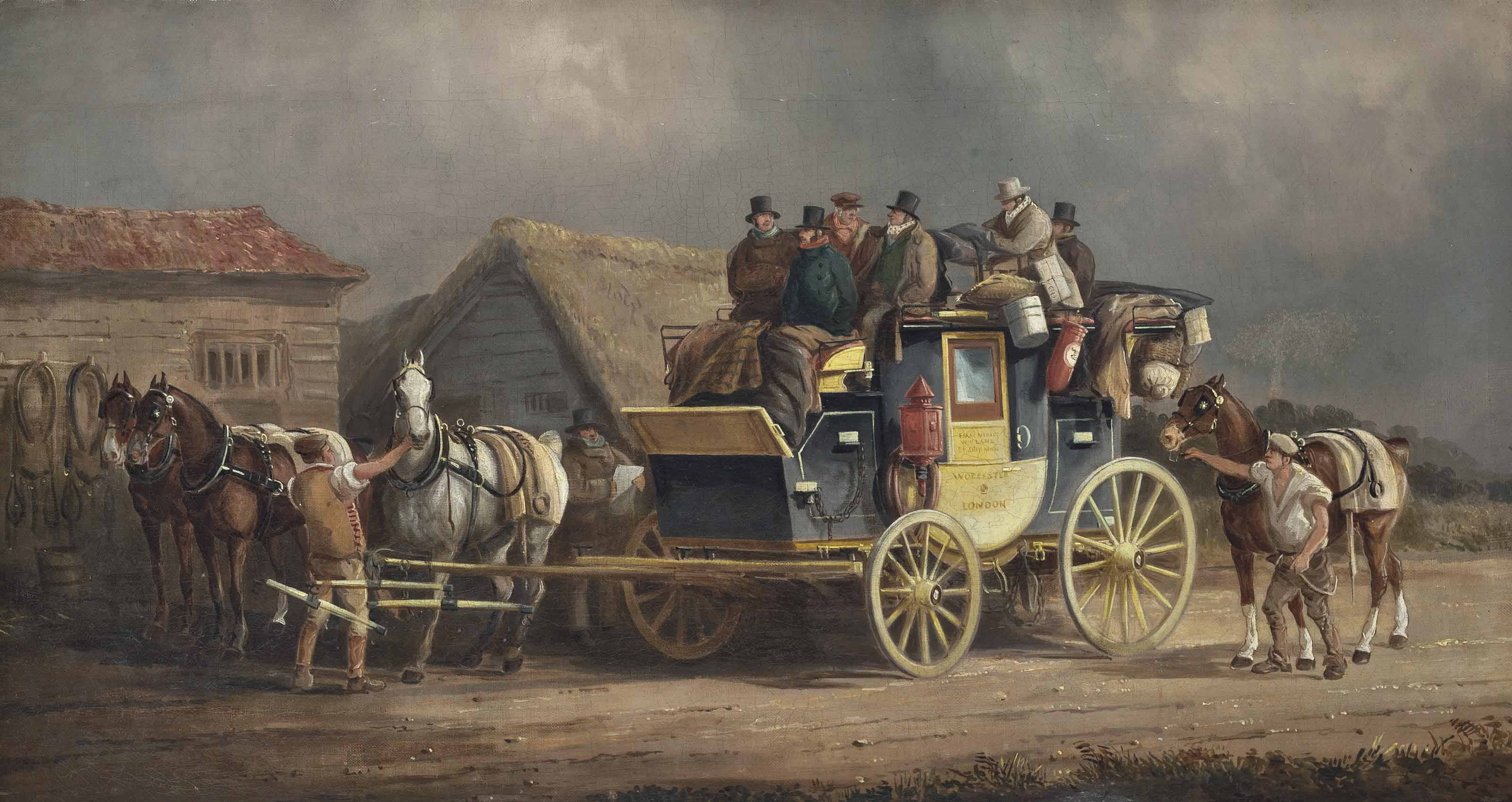 The Worcester to London coach