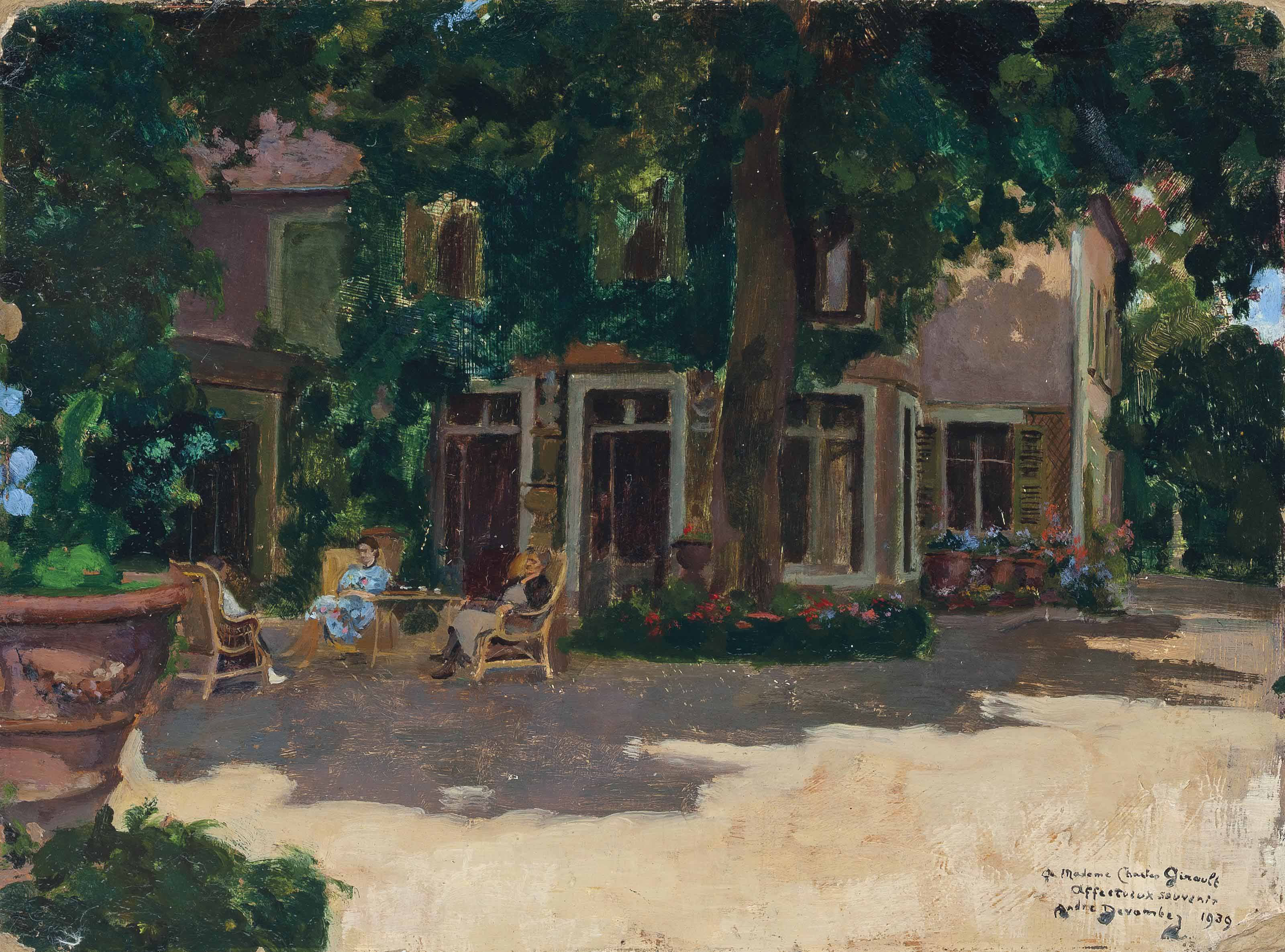 Afternoon tea in the shade