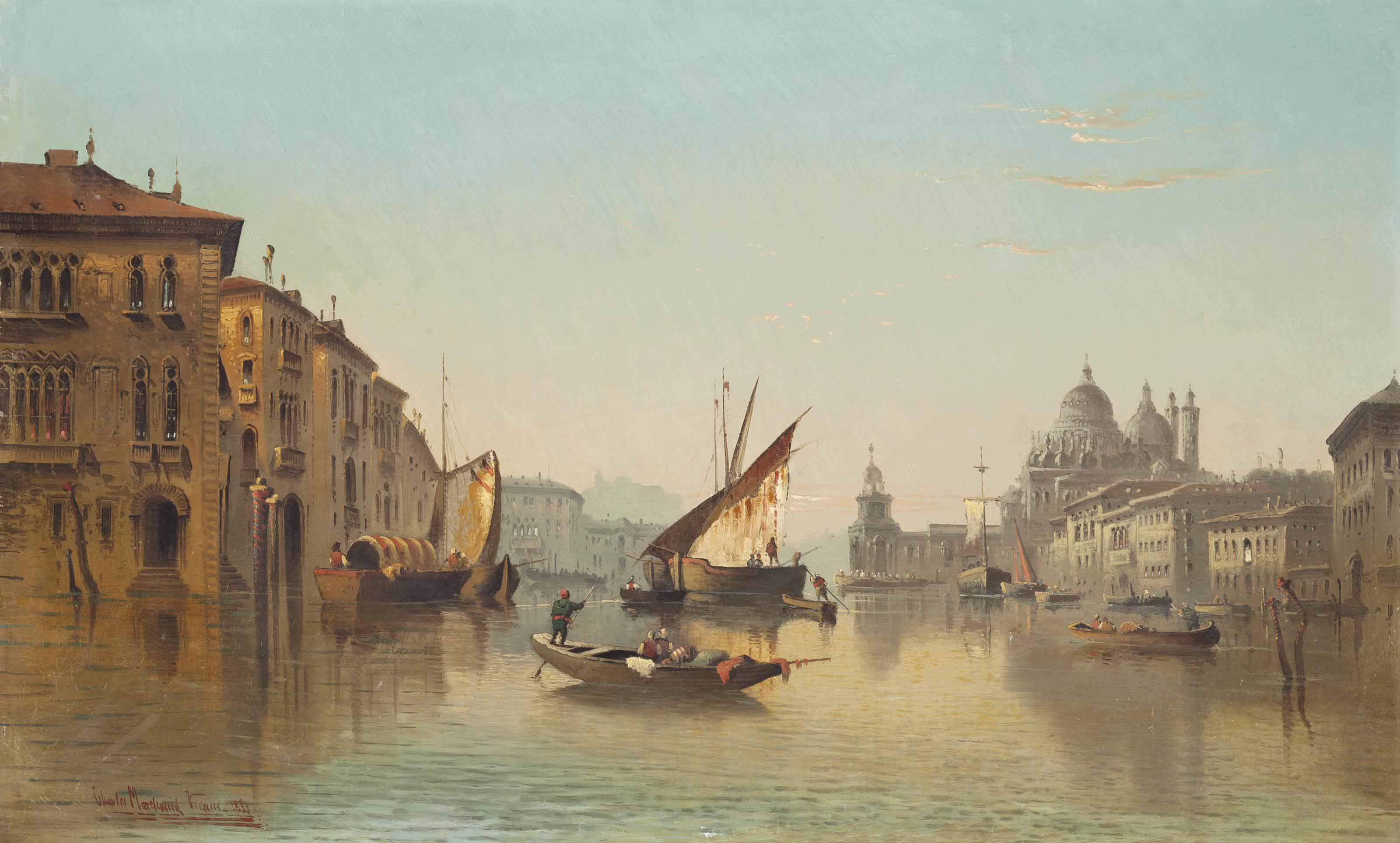 Vessels on the Grand Canal, Venice