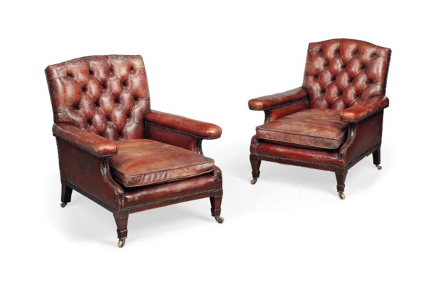A PAIR OF EDWARDIAN LEATHER-UP
