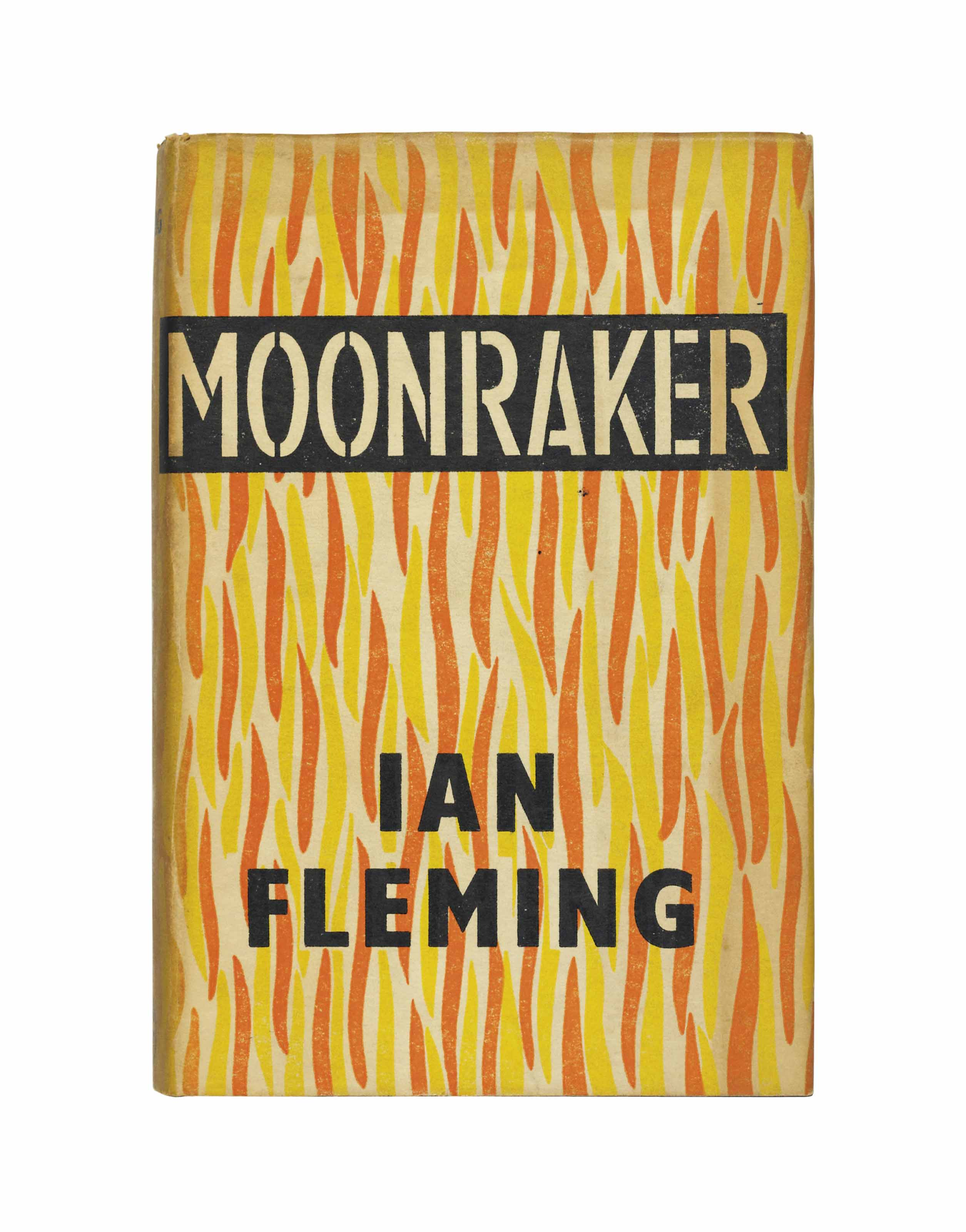 FLEMING, Ian (1908-1964). Moonraker. London: Jonathan Cape, 1955. 8° (190 x 125mm). Original black boards, lettered in silver, pictorial dust jacket by Kenneth Lewis after Ian Fleming (dust-jacket with a few creases to top edge, spine lightly faded, some light soiling). Provenance: Pat Perrey (ownership inscription).