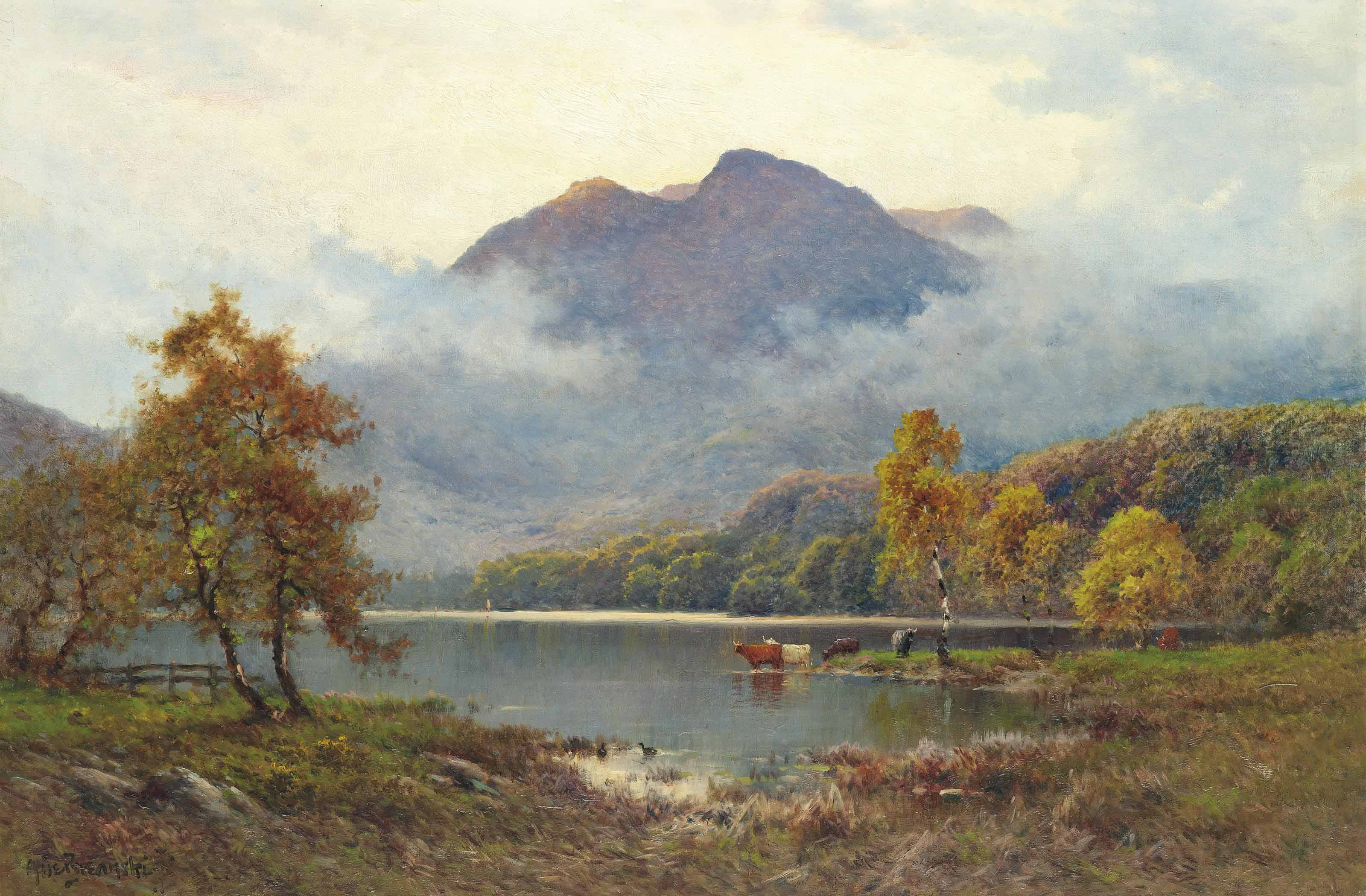 The Trossachs, Loch Achray and Ben Venue, Stirling