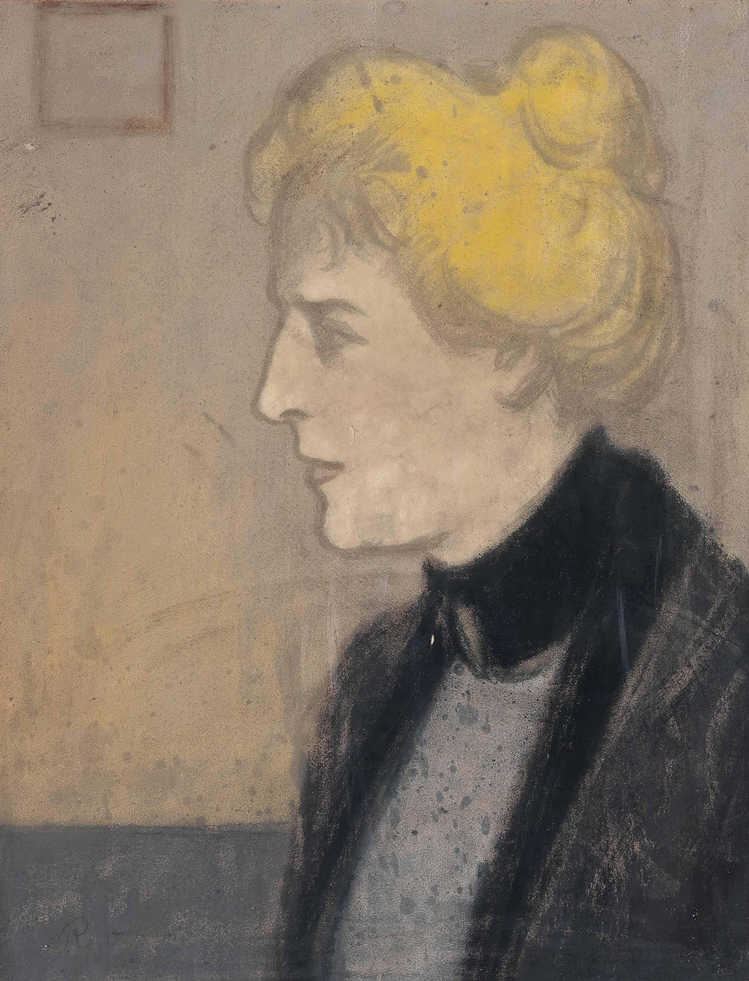 Portrait of a blonde lady