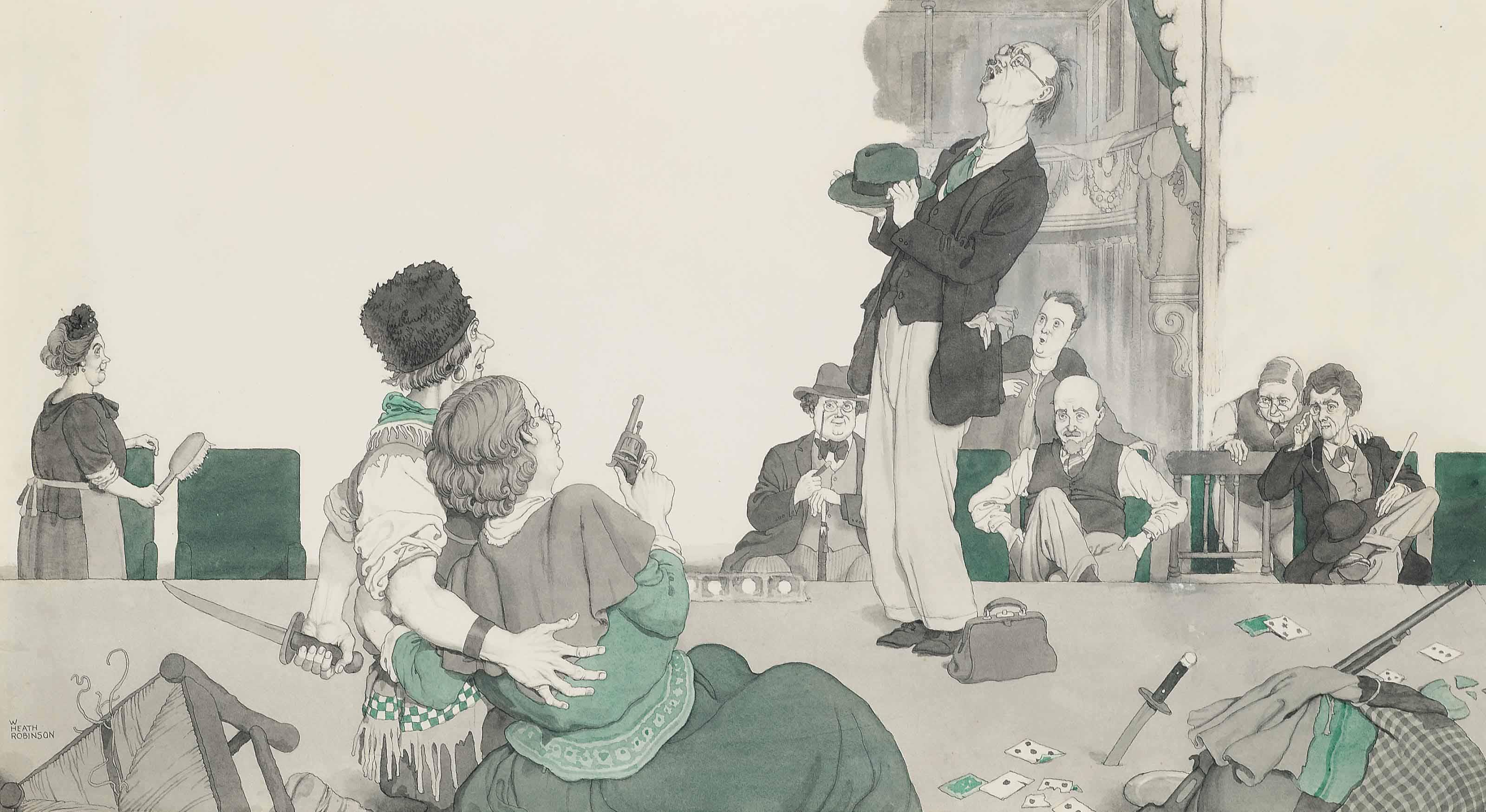 'Amateur Dramatics', an artwork for The Nash's Pall Mall Magazine, 1934