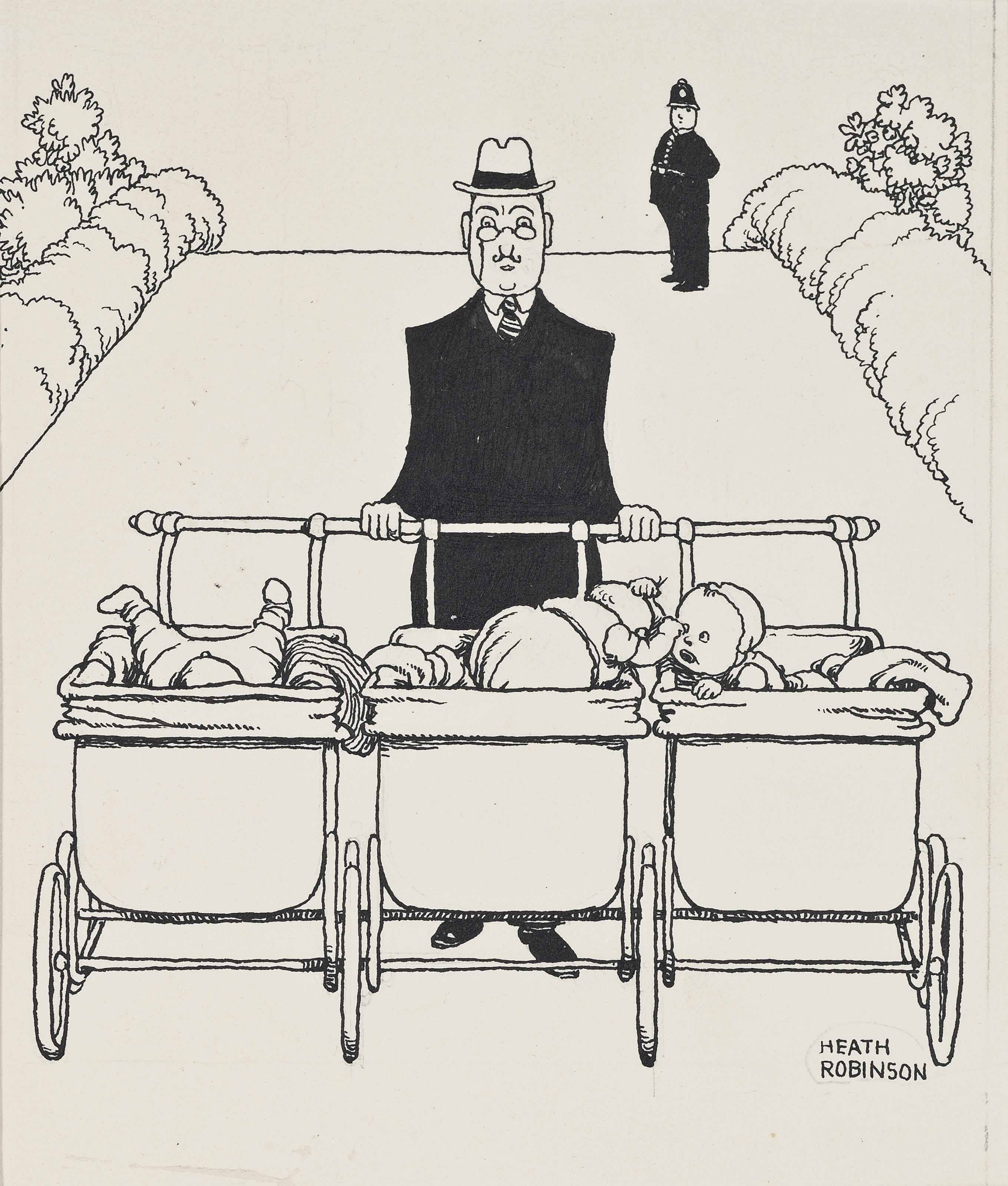 The trip-pram for triplets (illustrated); and Preserving the figure