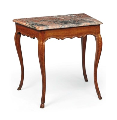 A PROVINCIAL LOUIS XV OAK SIDE