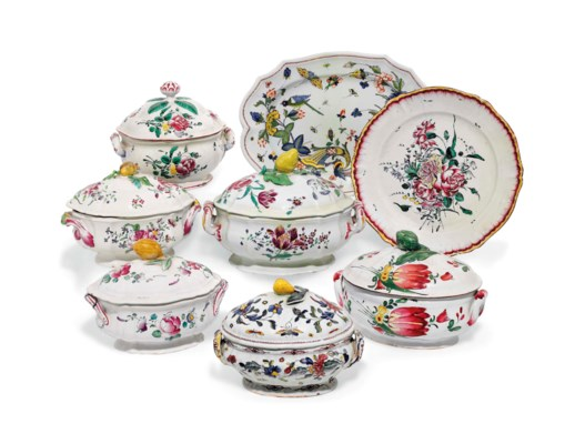 A GROUP OF FRENCH FAIENCE TURE