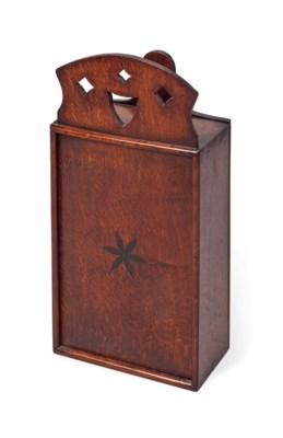 A GEORGE III OAK CANDLEBOX