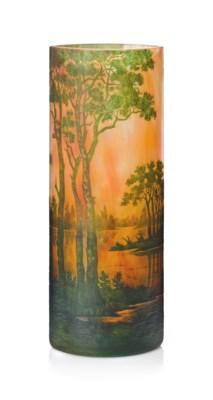 A DAUM CAMEO GLASS 'PAYSAGE' V