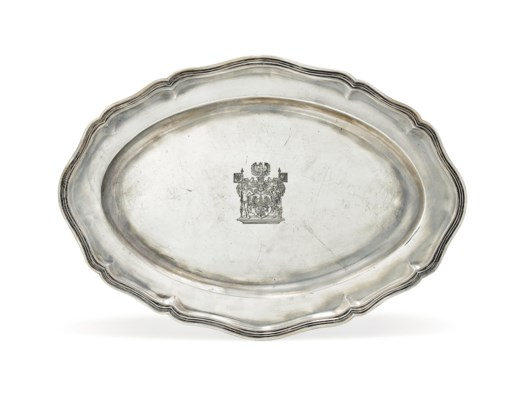 A GERMAN SILVER MEAT DISH