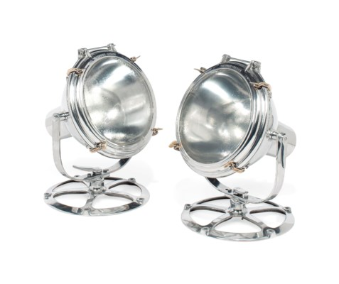 A PAIR OF AMERICAN POLISHED AL