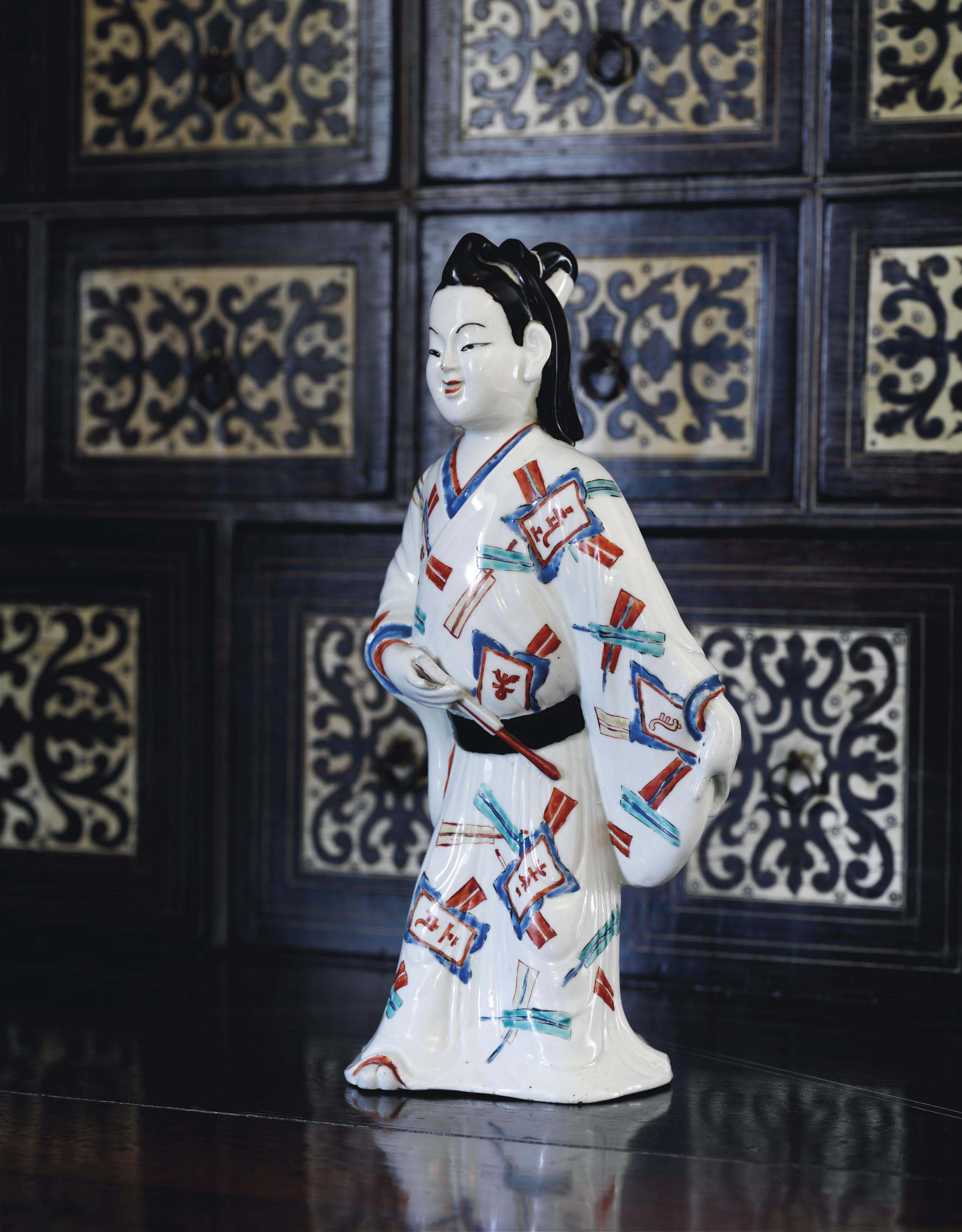 A Rare Kakiemon Figure of a Wakashu [Young Man]