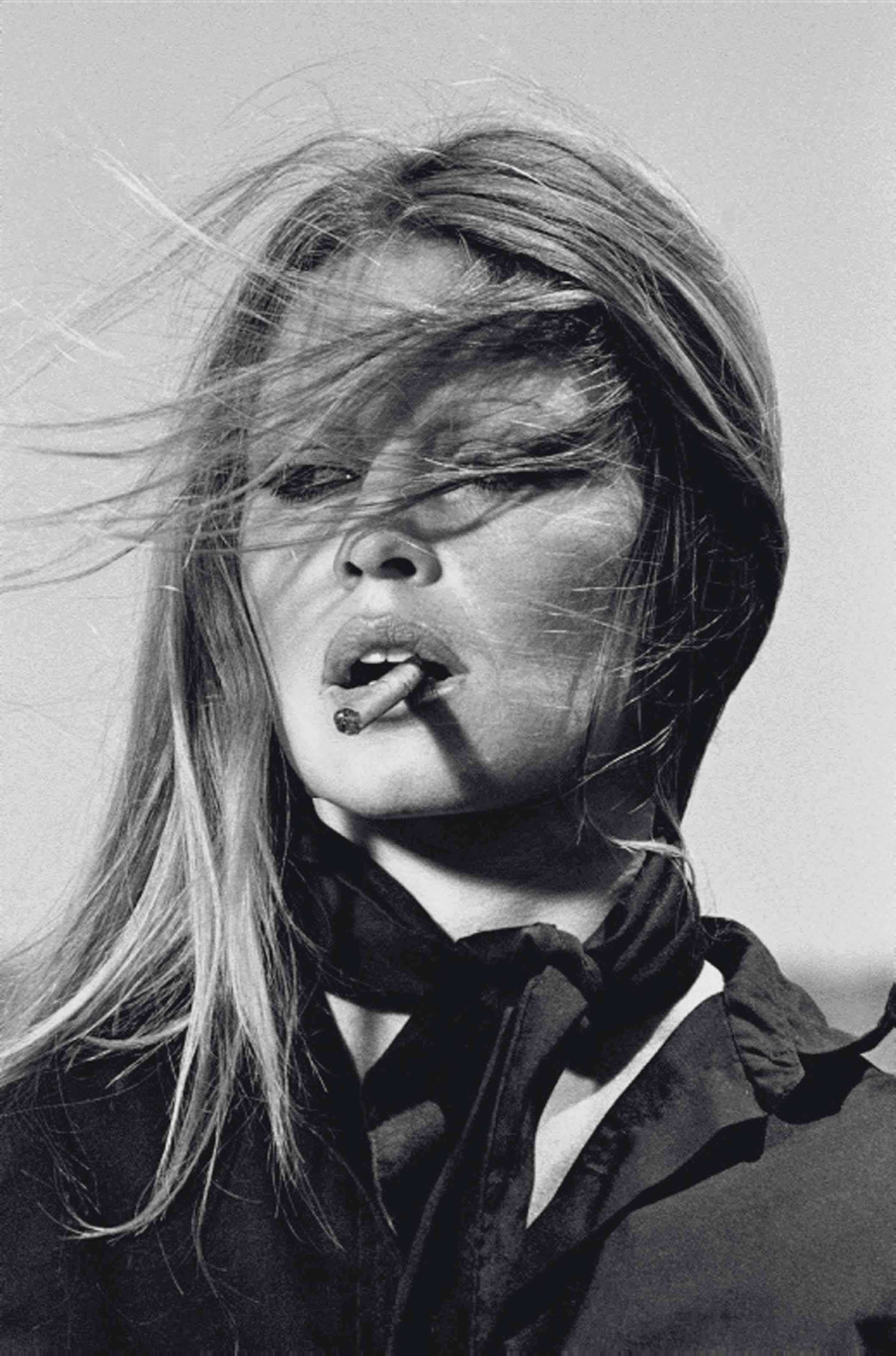 Brigitte Bardot with Cigar, Spain, 1971