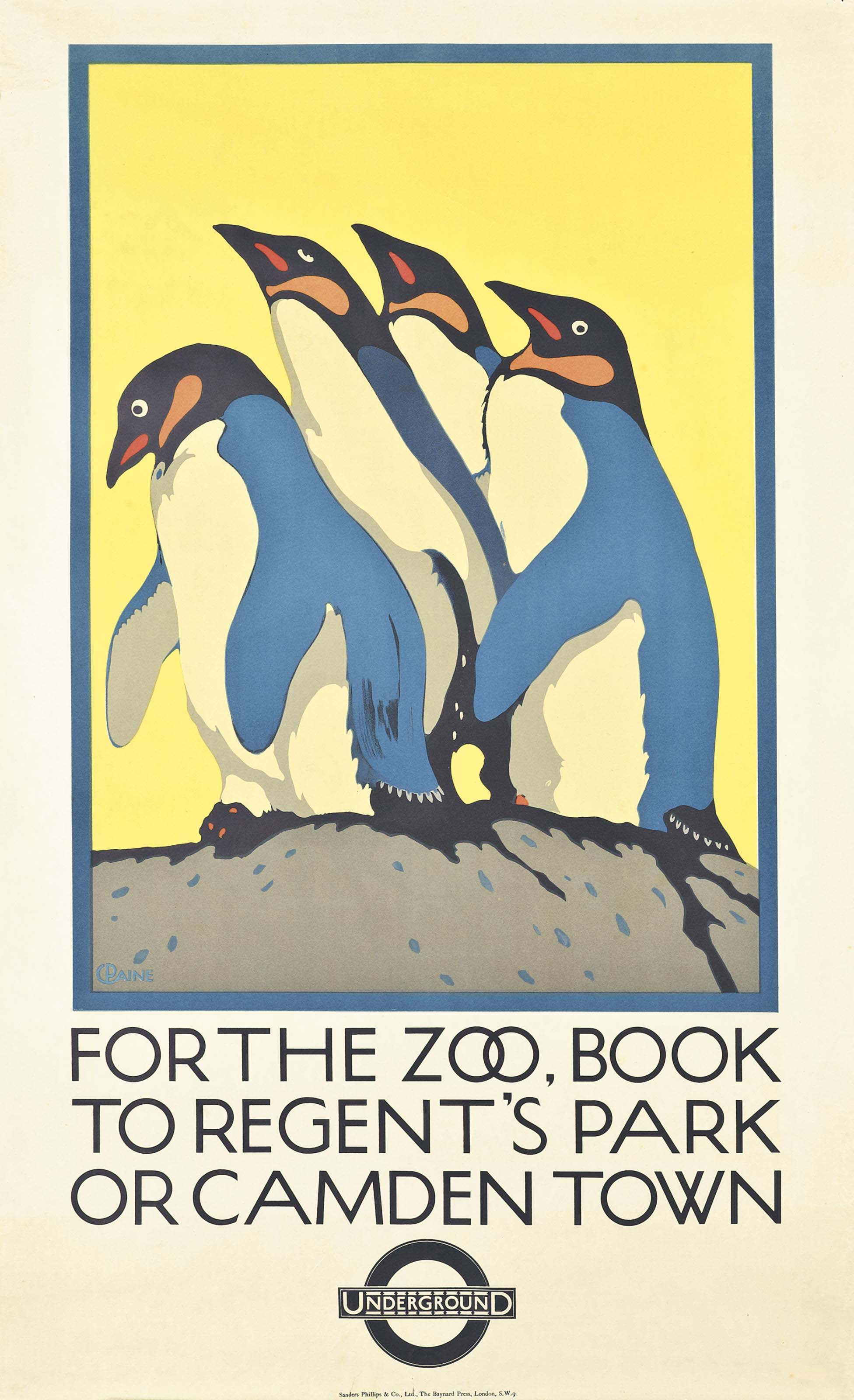 FOR THE ZOO, BOOK TO REGENT'S PARK