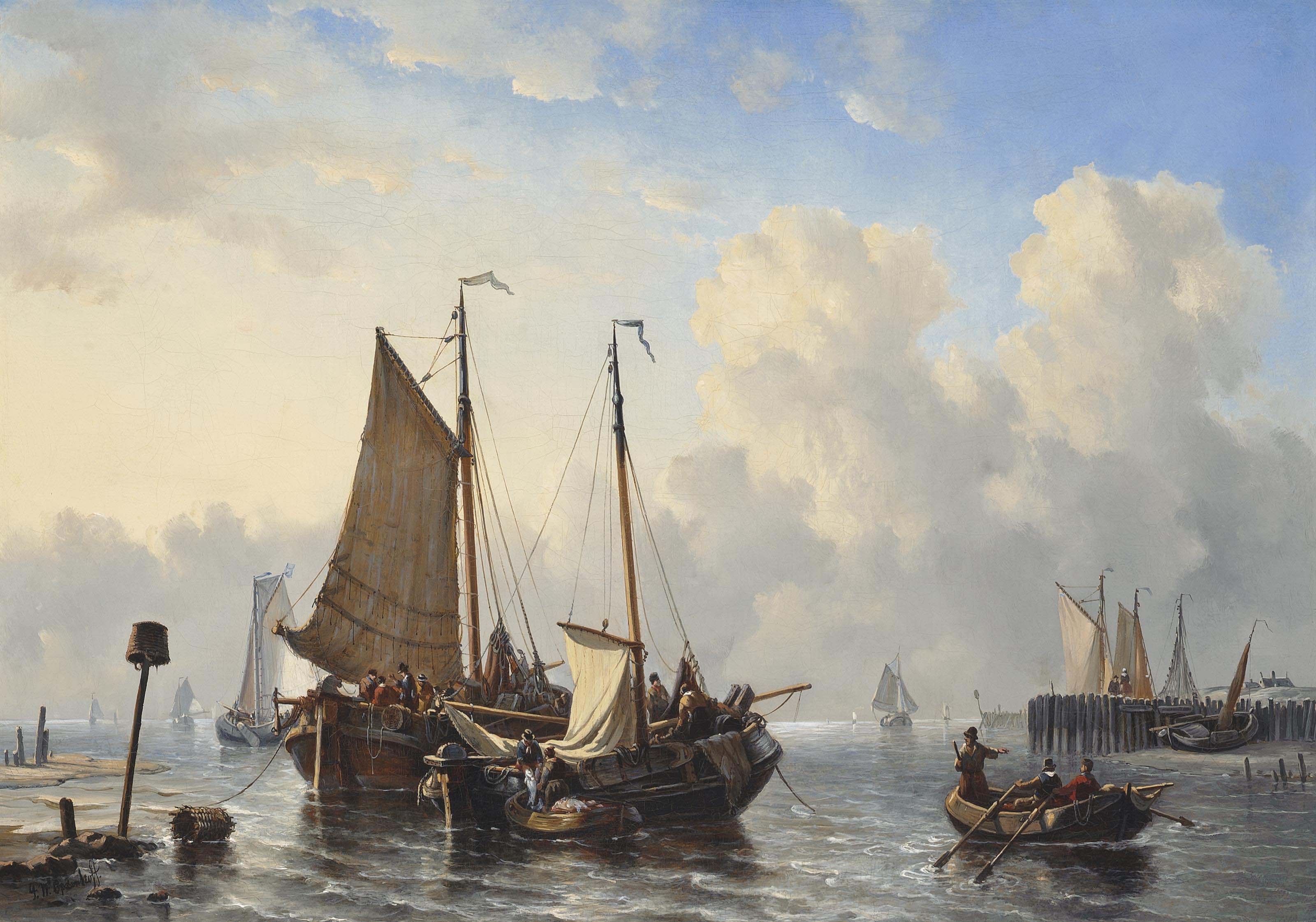 Unloading the day's catch off the coast of the Low Countries