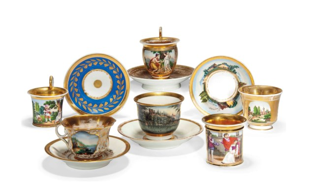 A GROUP OF RUSSIAN PORCELAIN C