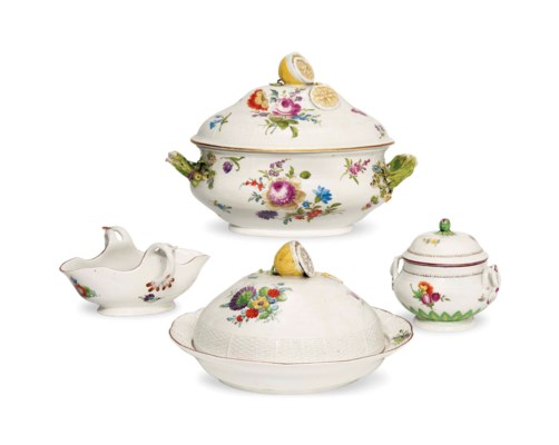 A GROUP OF RUSSIAN PORCELAIN S