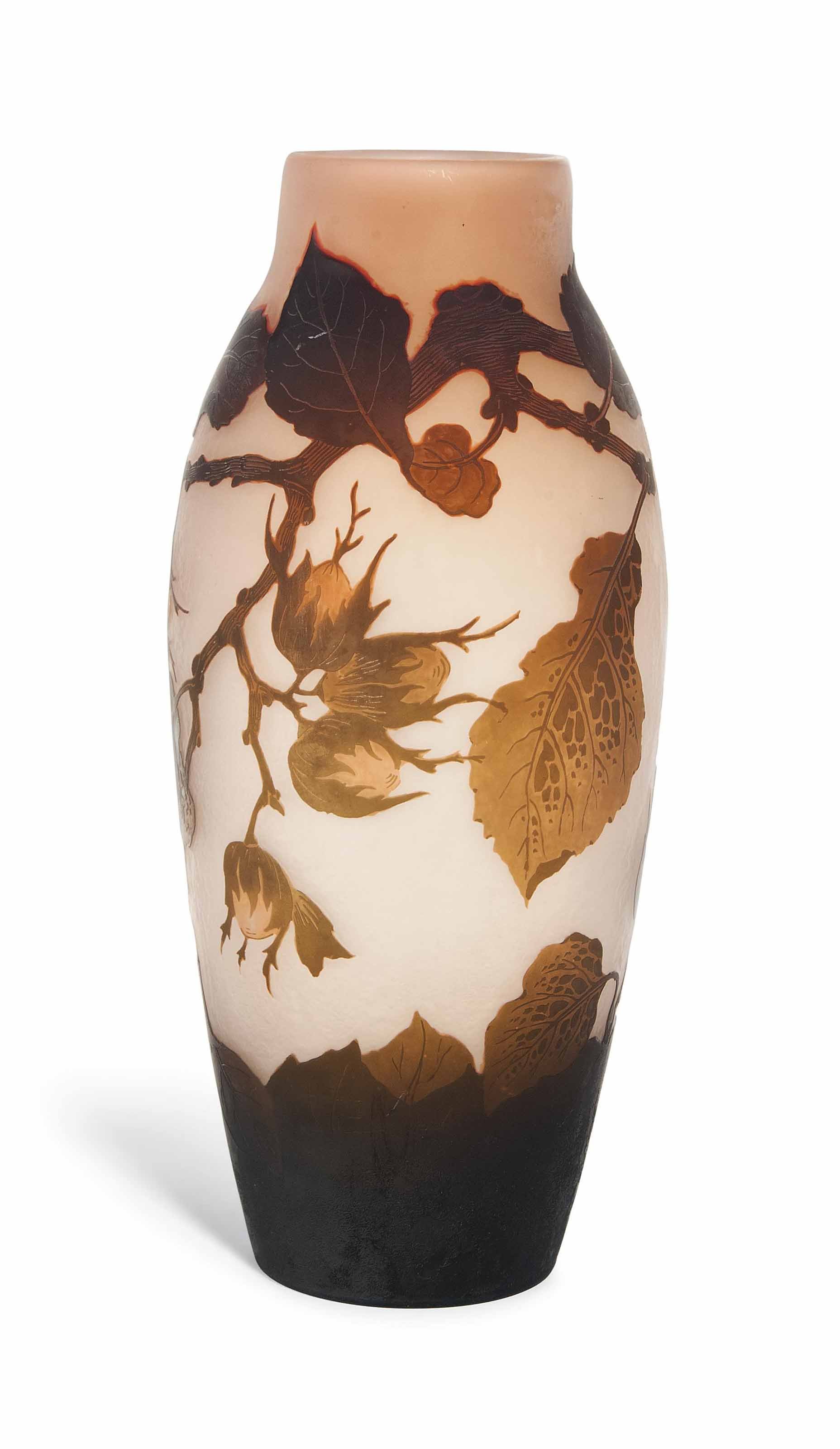 AN ARSALL CAMEO GLASS VASE