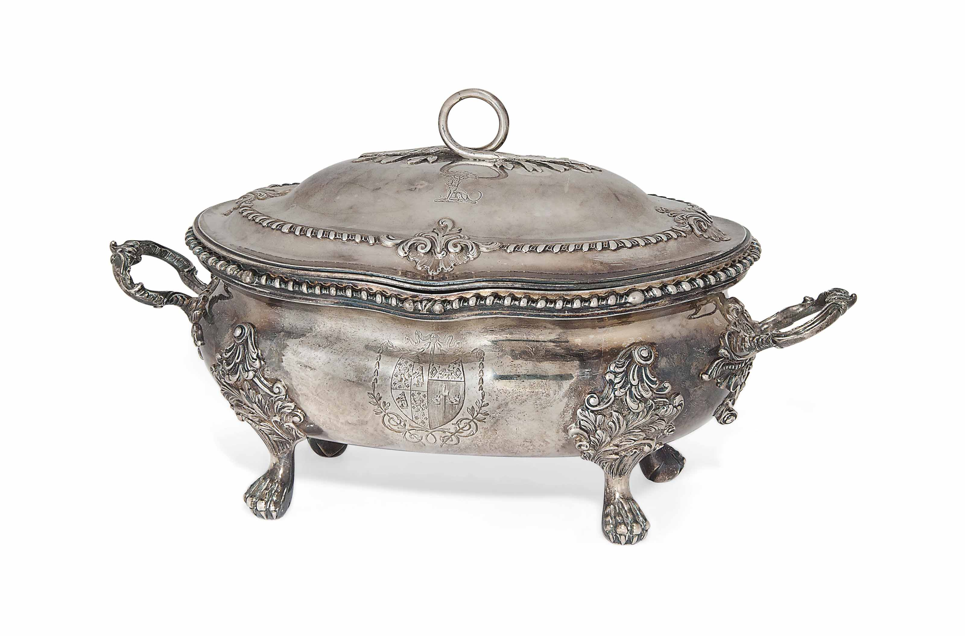 A GEORGE III SILVER SOUP TUREEN