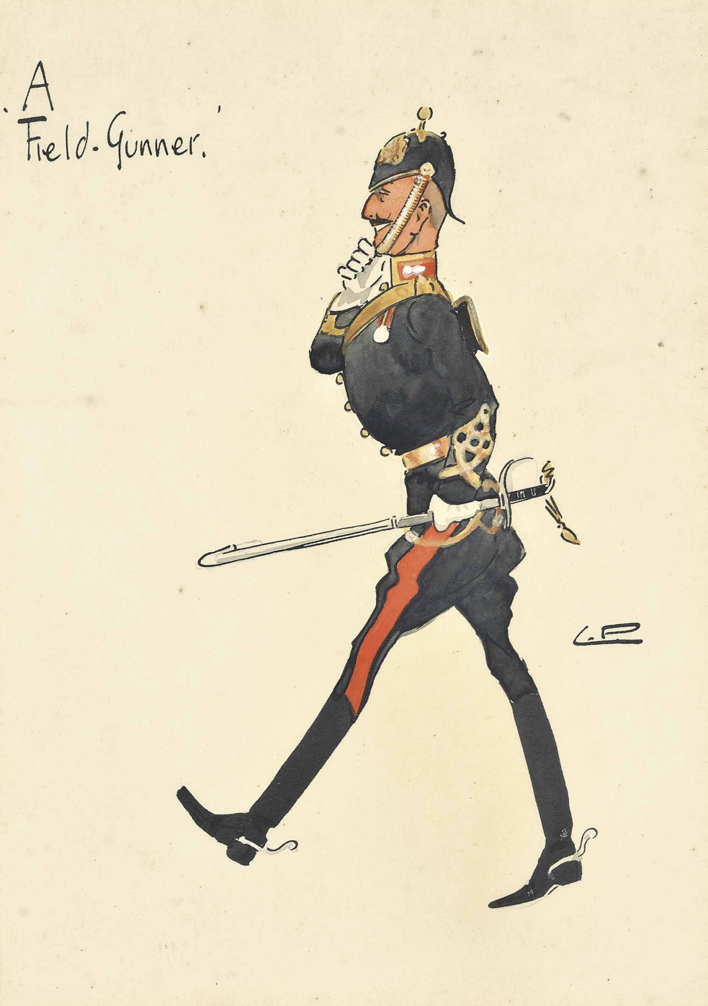 A set of three Impressions of the Army: The Shropshires; A Green-Howard; and A Field-Gunner (illustrated)