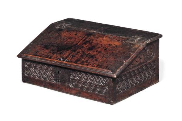 A CHARLES II OAK DESK BOX