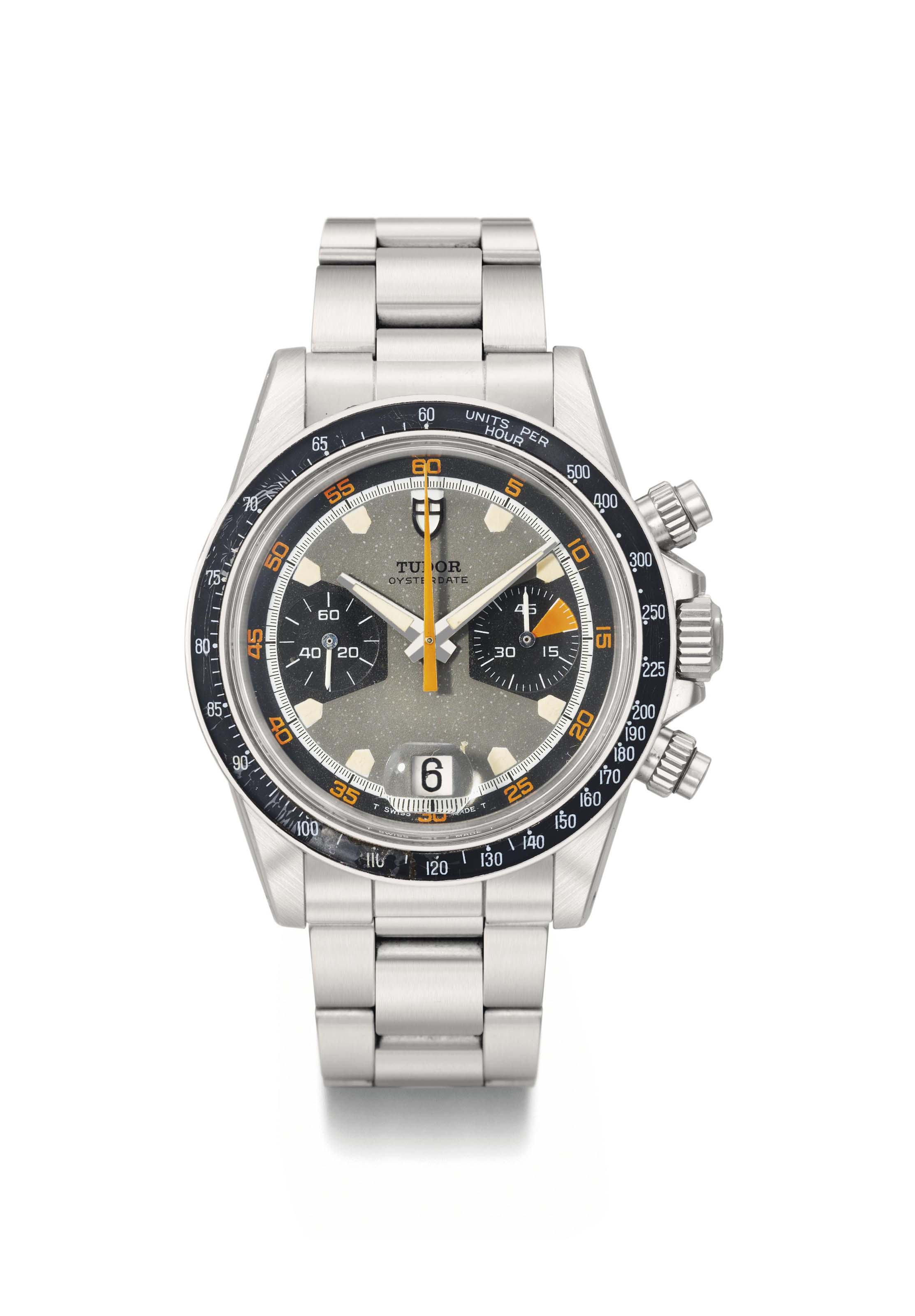 Tudor. A fine and attractive stainless steel chronograph wristwatch with date and bracelet