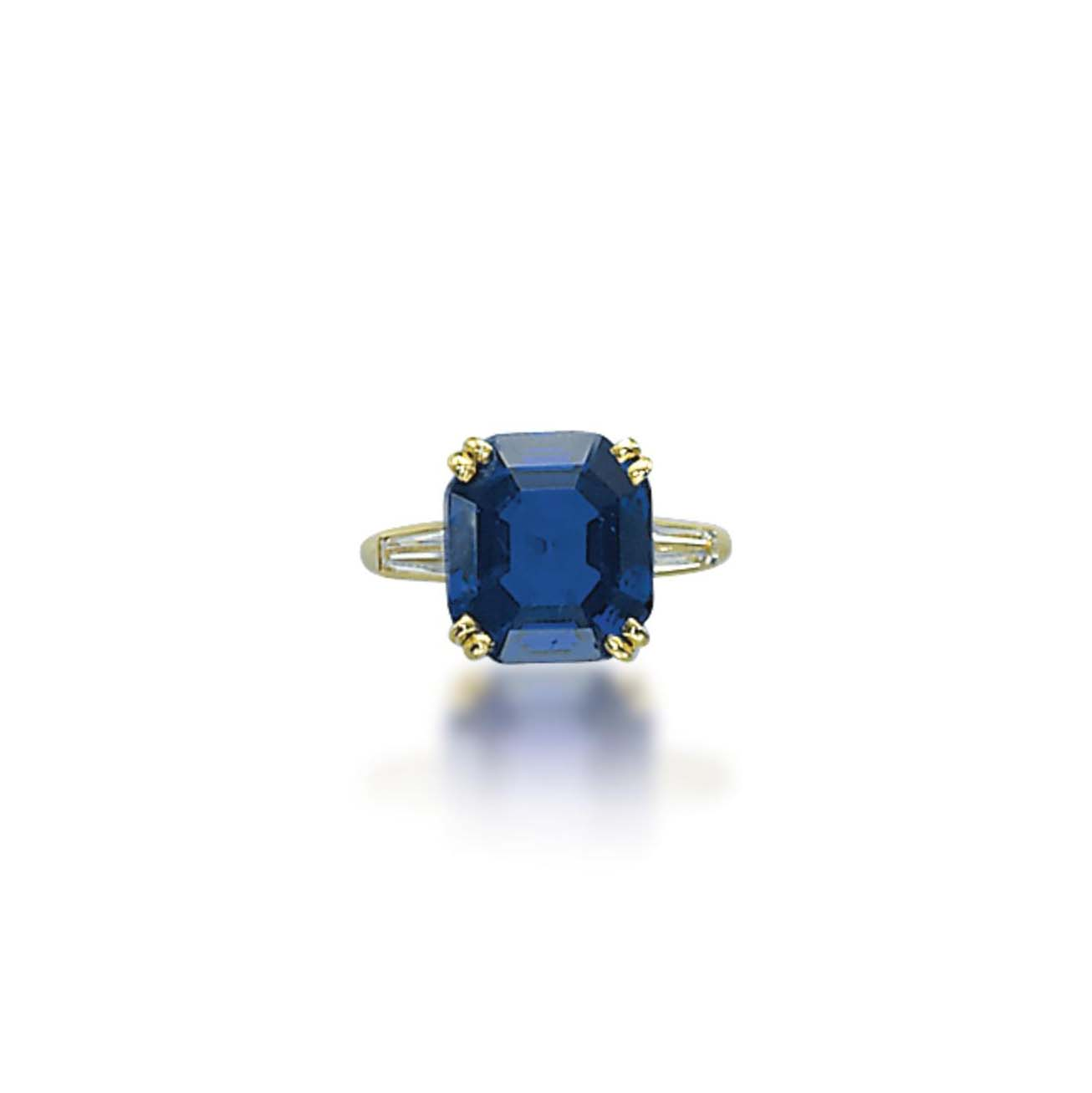 A SAPPHIRE AND DIAMOND RING, BY BOUCHERON