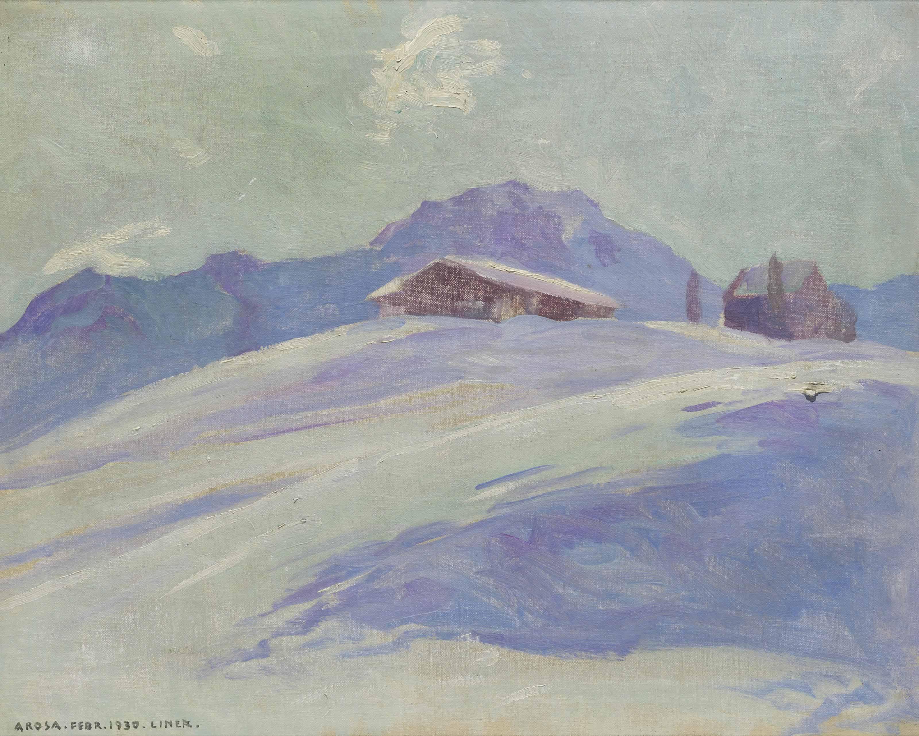Winterlandschaft Arosa, 1930