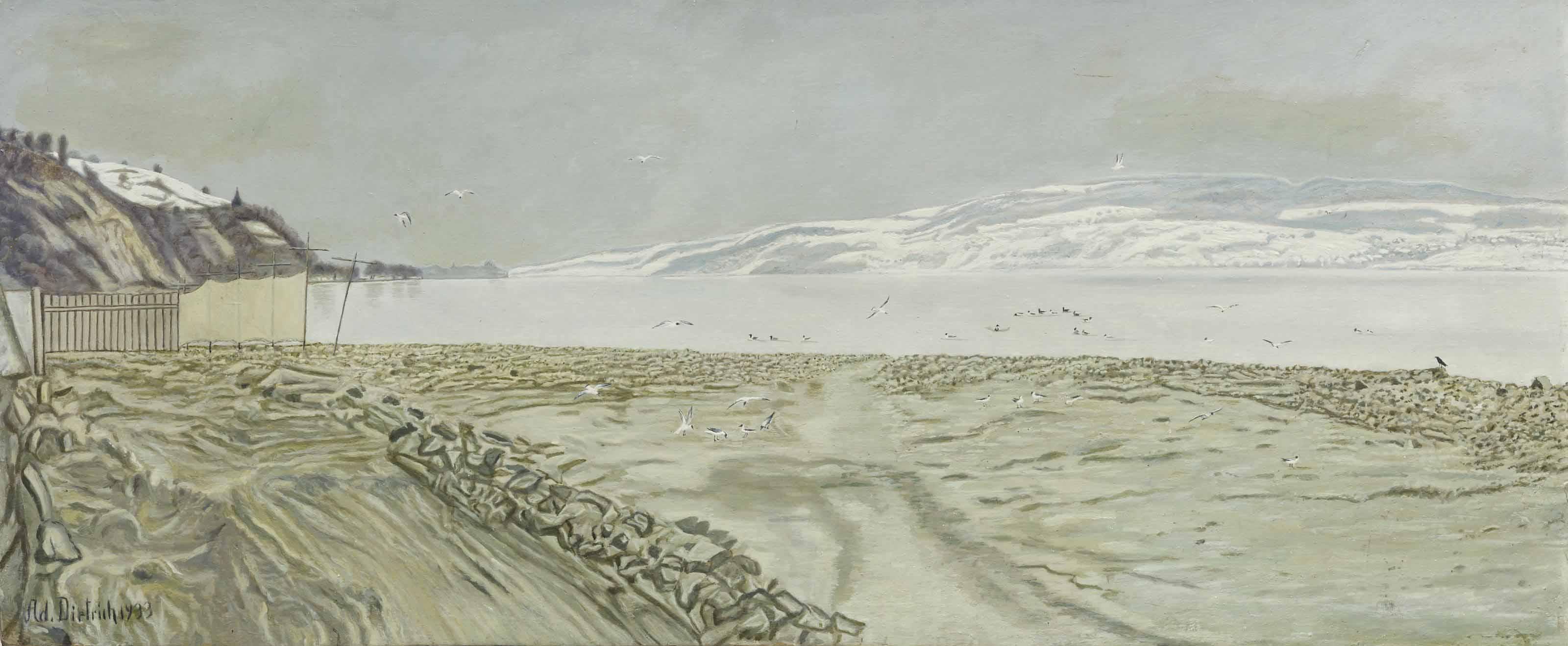 Blick gegen Höri im Winter, 1933