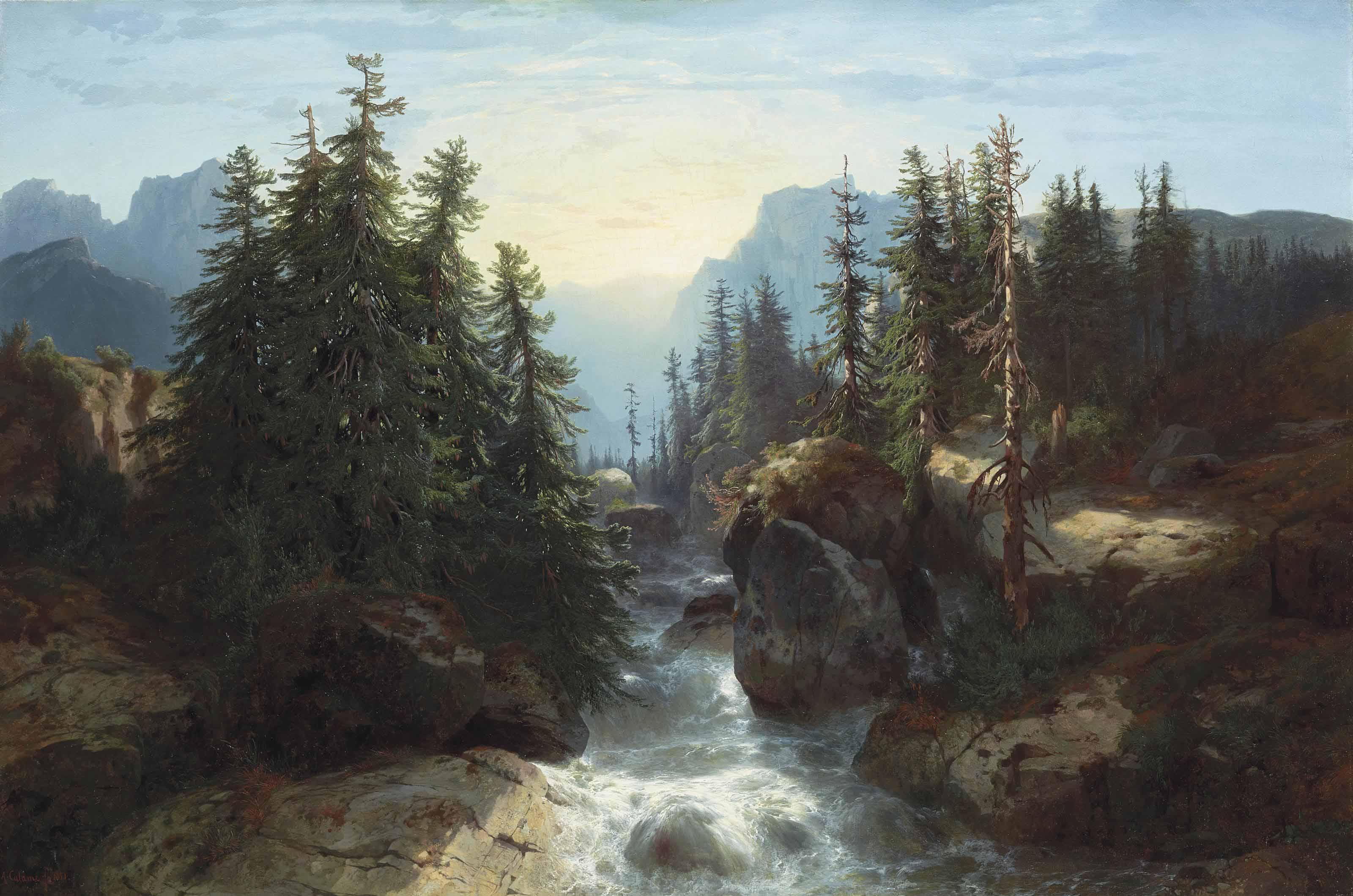 Torrent des Alpes, Souvenir de la Scheidegg, 1851
