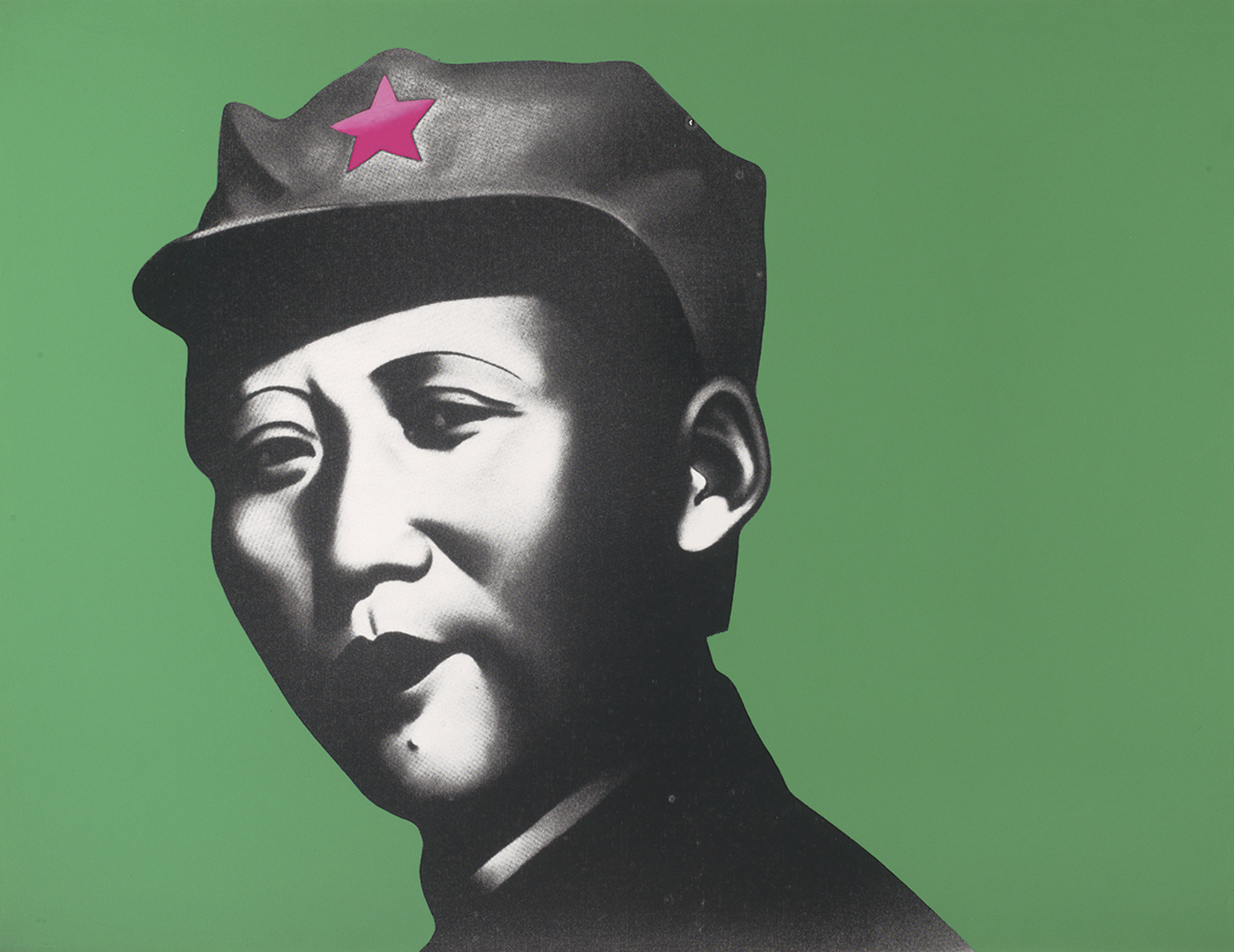 Rouge Series: Mao with Green Background