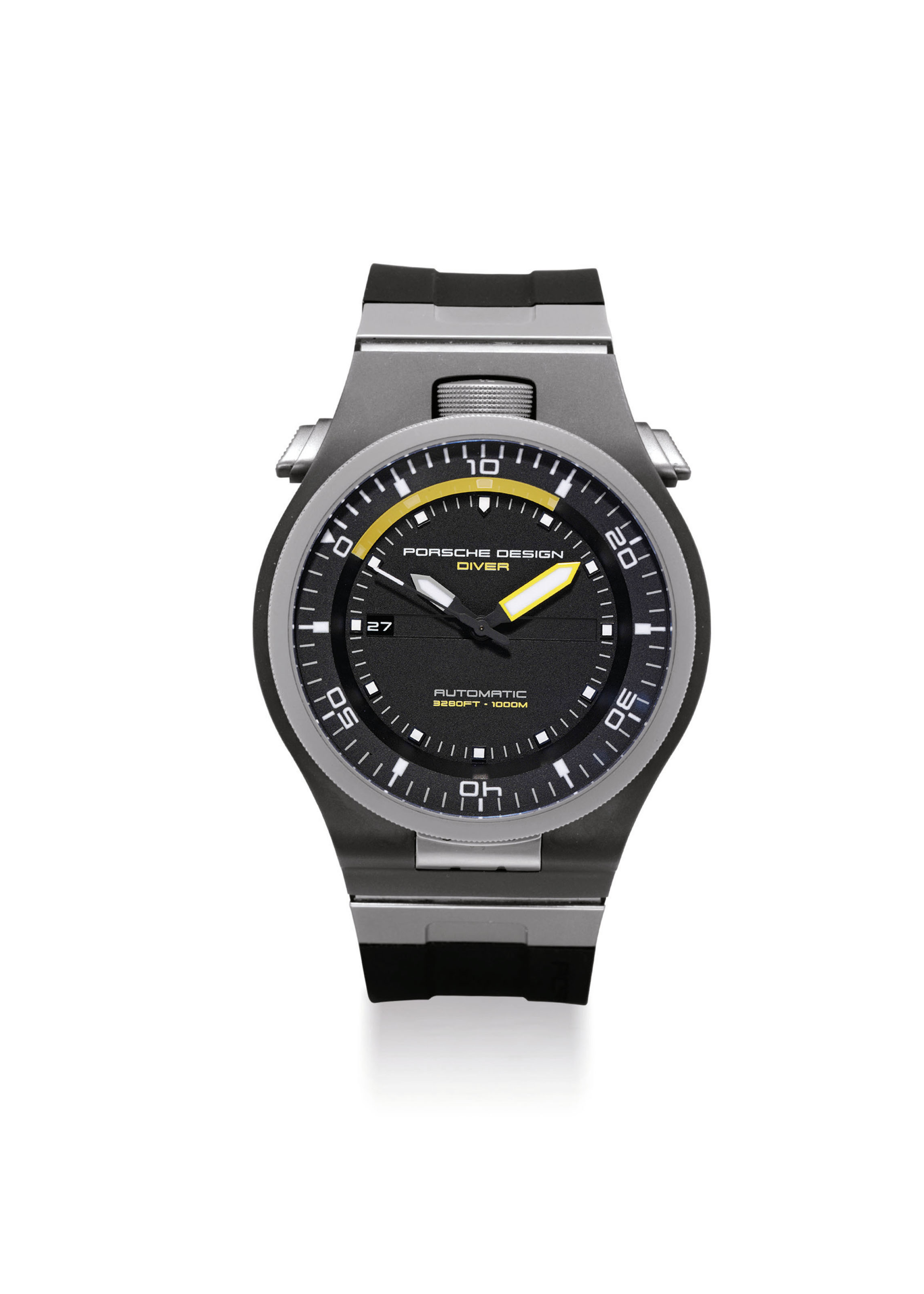 PORSCHE DESIGN. A STAINLESS STEEL AND TITANIUM AUTOMATIC DIVER'S WATCH WITH SWEEP CENTRE SECONDS AND DATE