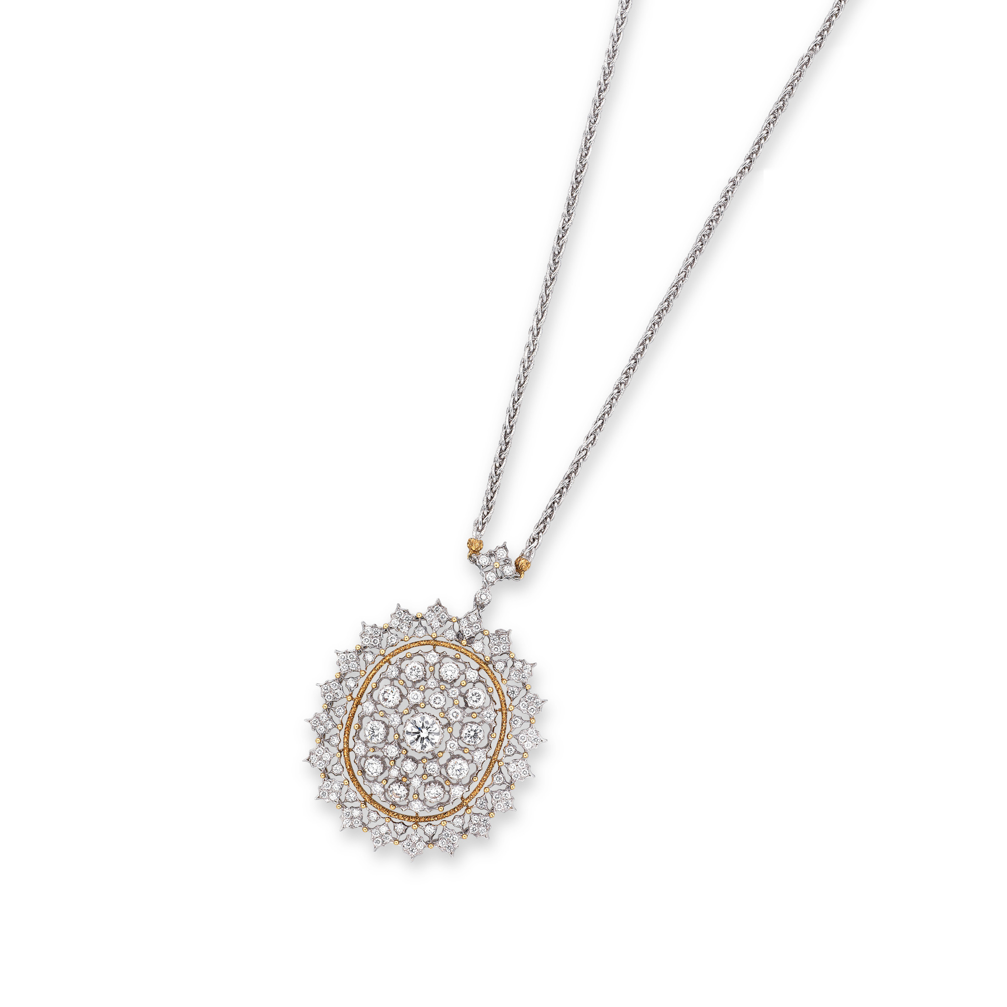 A DIAMOND PENDENT NECKLACE, BY BUCCELLATI