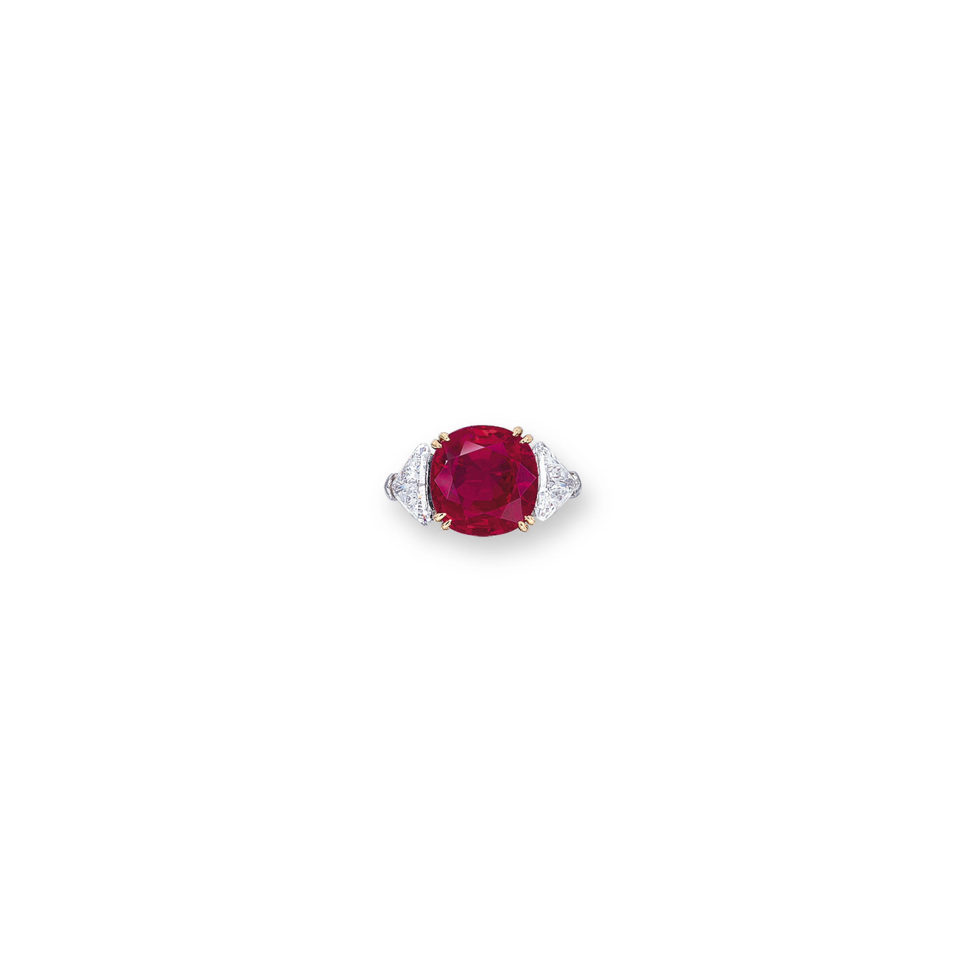 A RARE RUBY AND DIAMOND RING, BY HARRY WINSTON