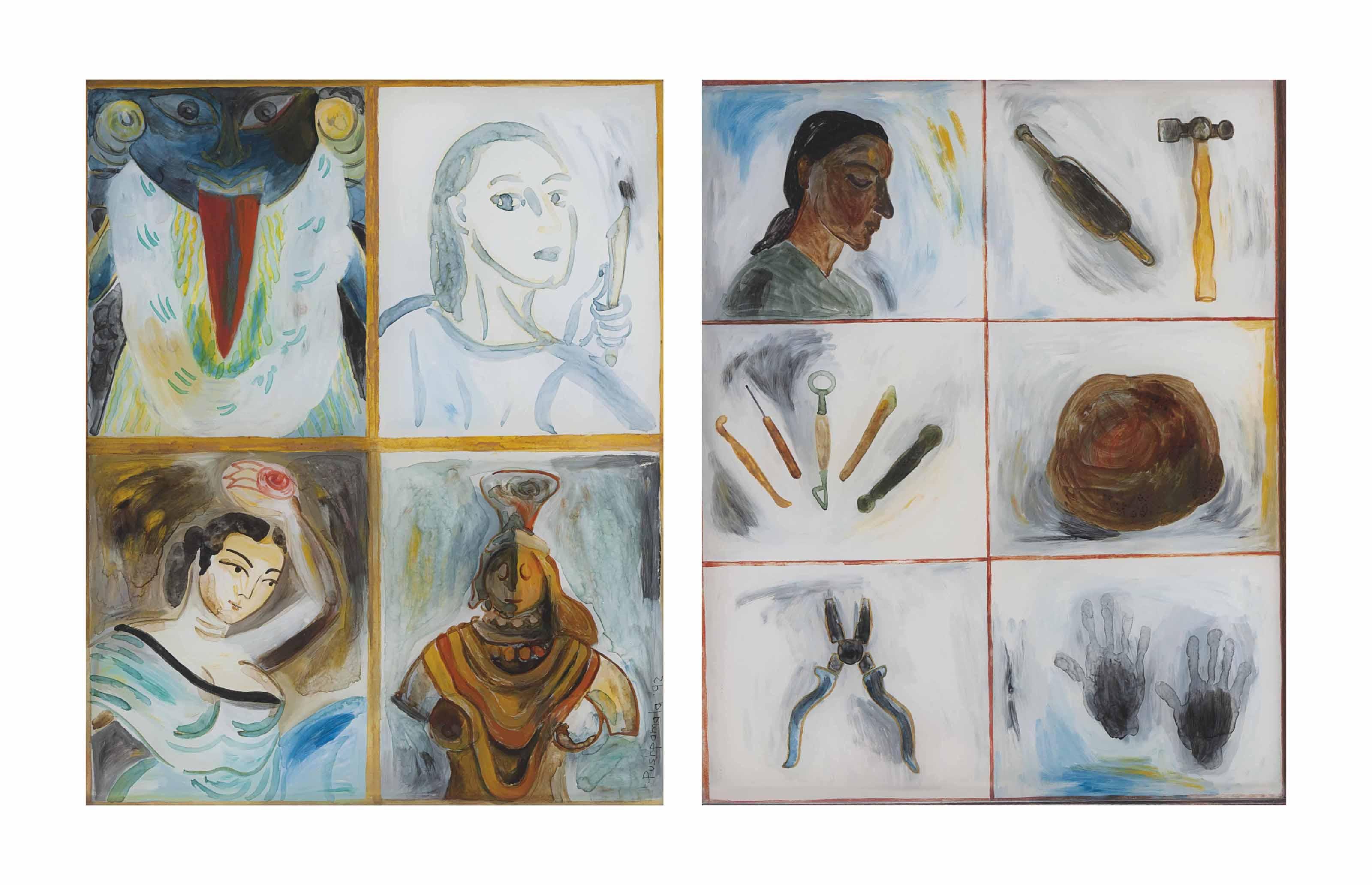 Untitled; Self Portrait: Artist and Tools