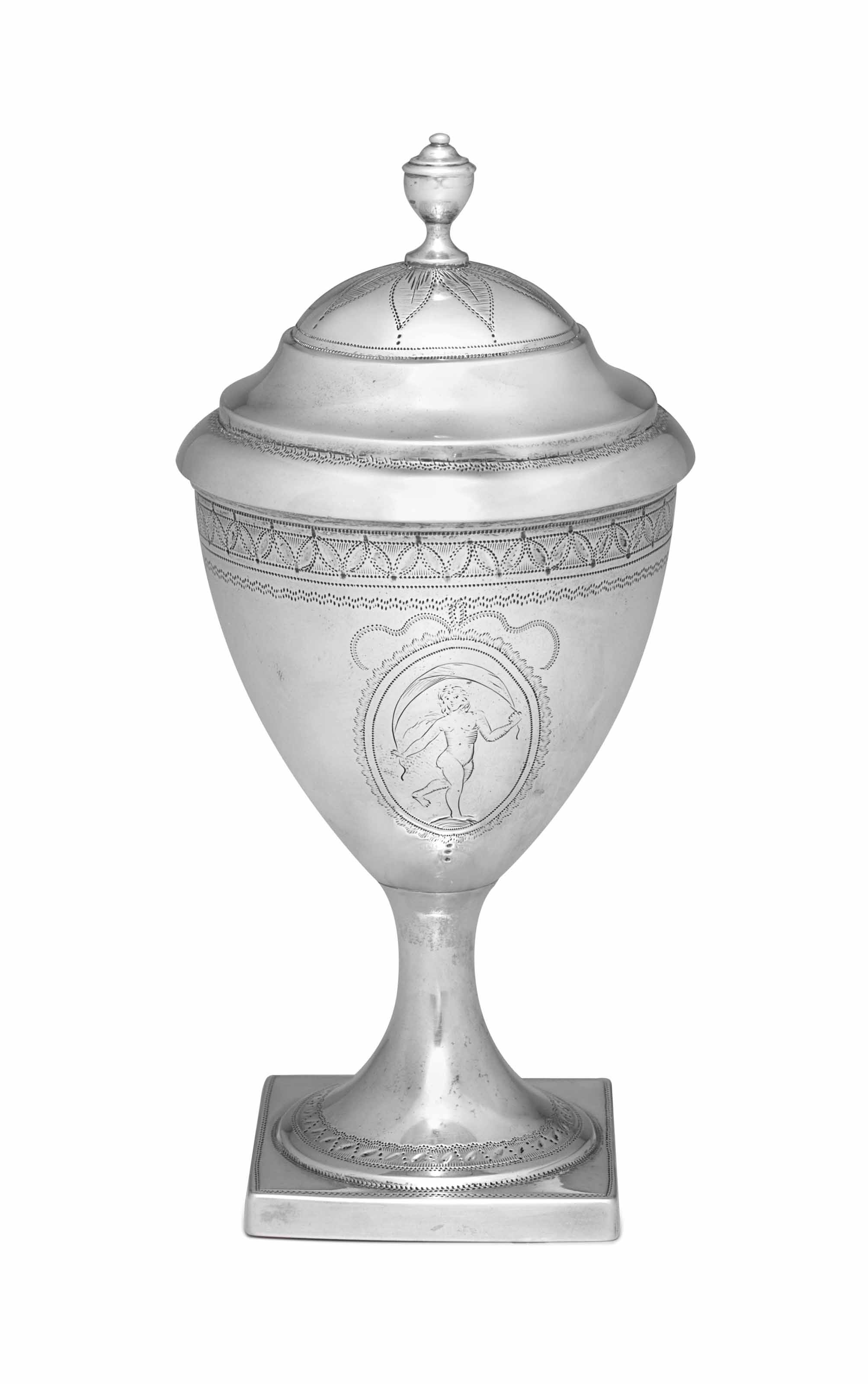 A RARE SILVER COVERED VASE
