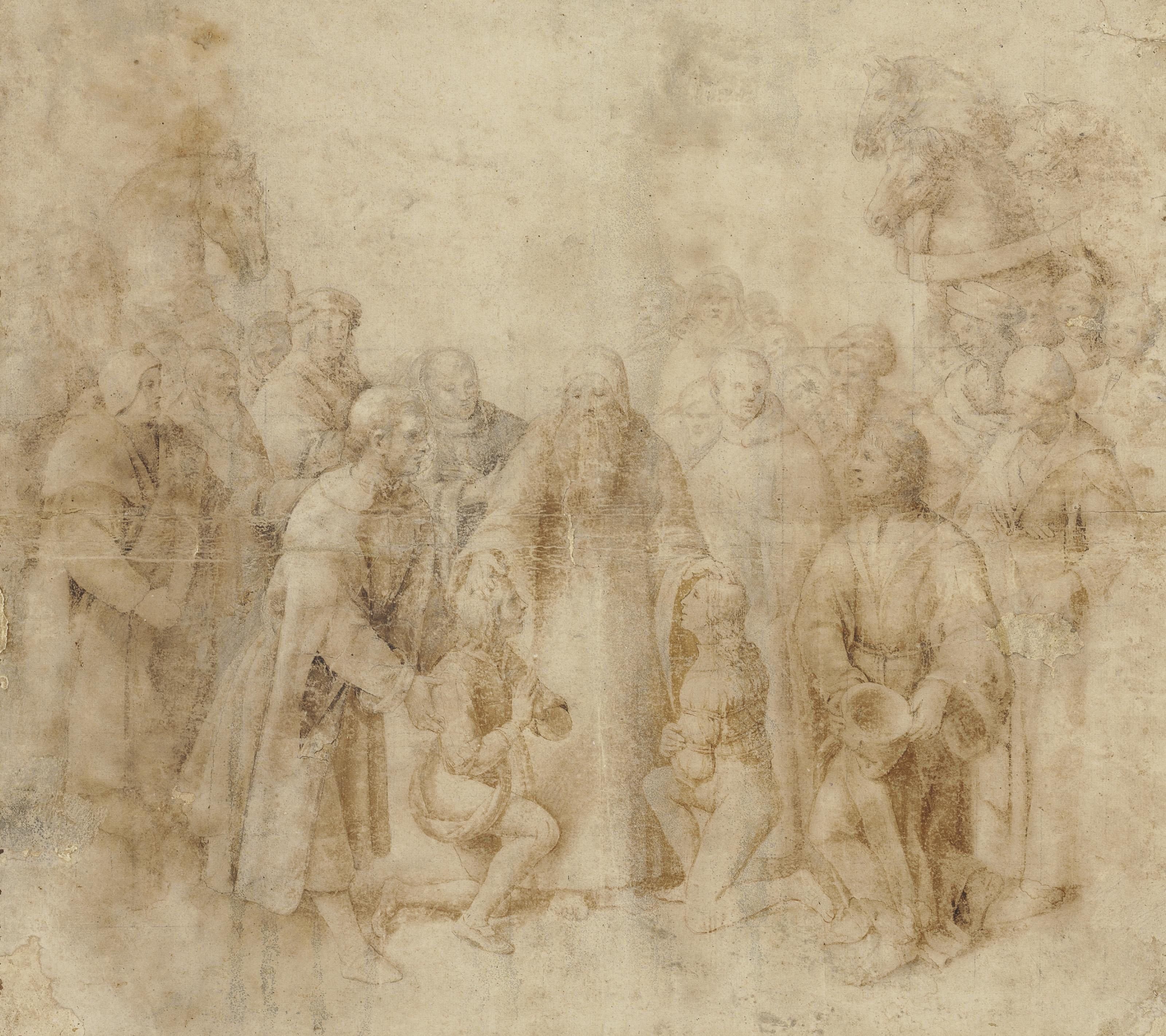 Saint Benedict receiving Maurus and Placidus